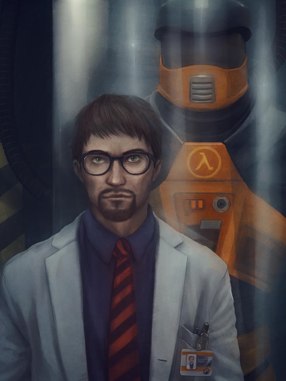 Wallpaper Half Life Gordon Freeman Video Games Video