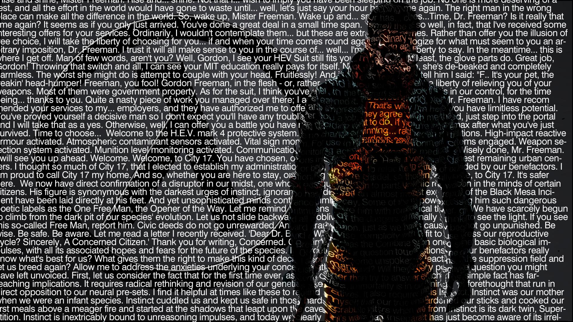 Wallpaper Half Life Valve Corporation Gordon Freeman Video