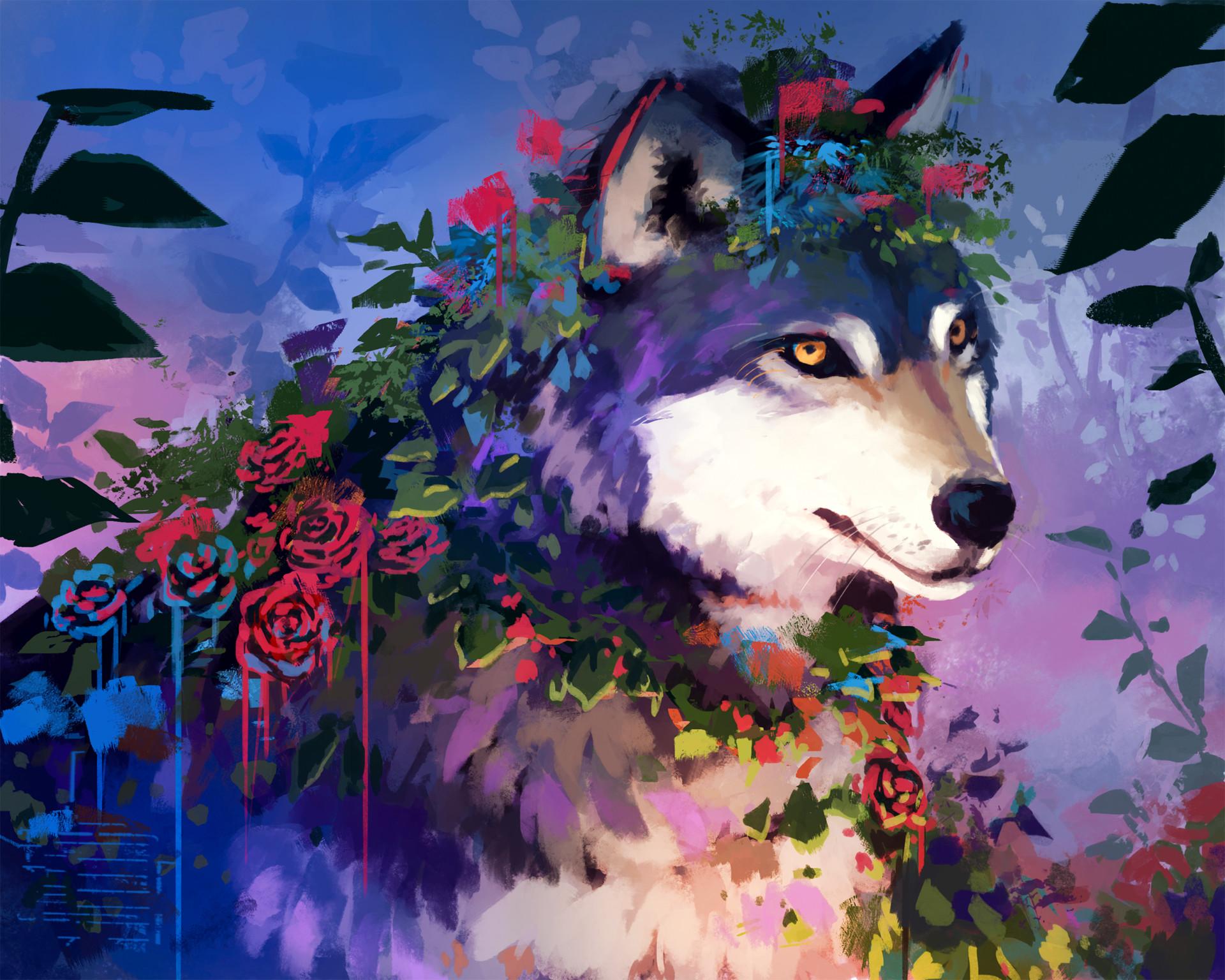был волки с цветами картинки этом