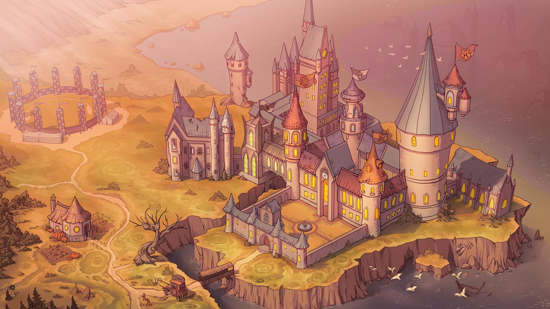 Wallpaper Harry Potter Hogwarts Castle 1920x1080 Kingwilfred