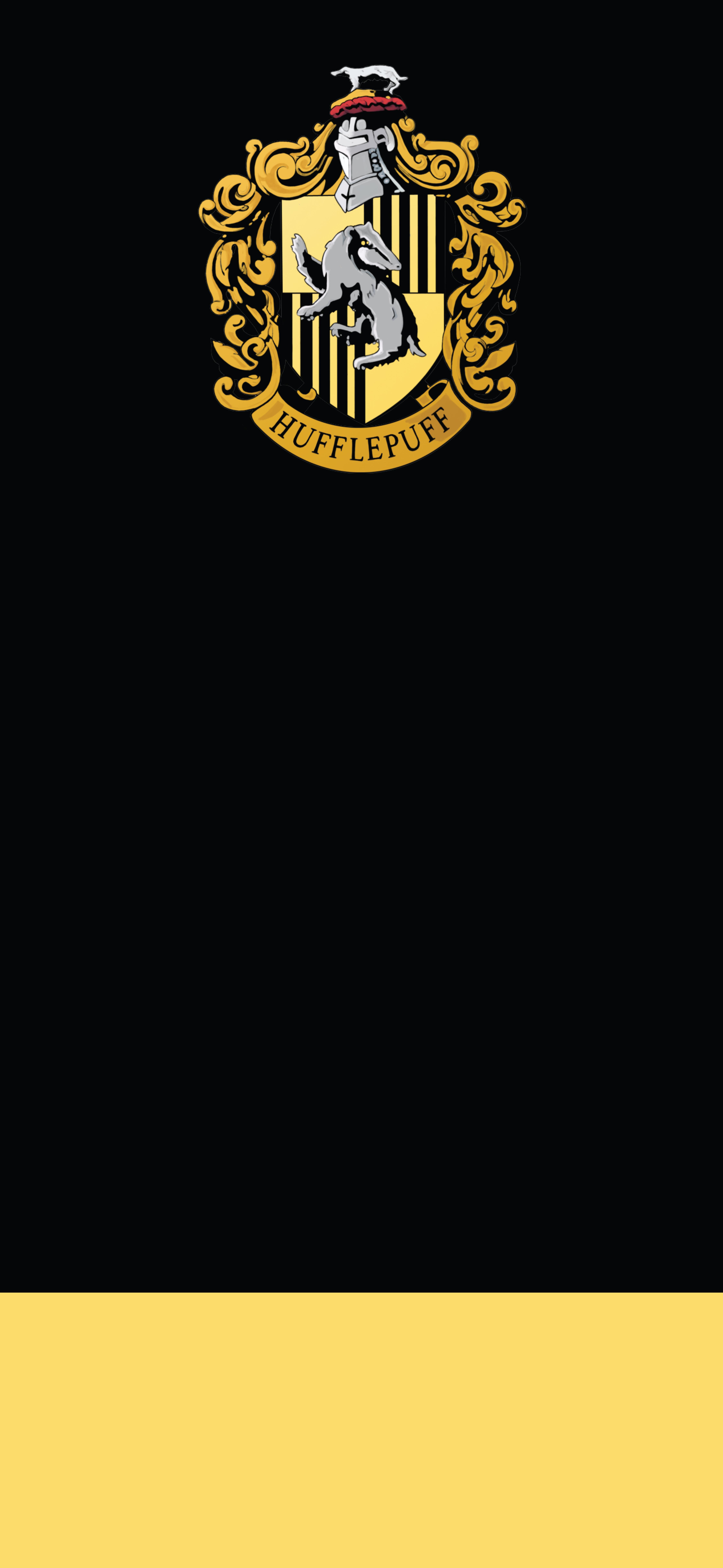 デスクトップ壁紙 ハリーポッター ミニマリズム 黒 黄 4500x9750