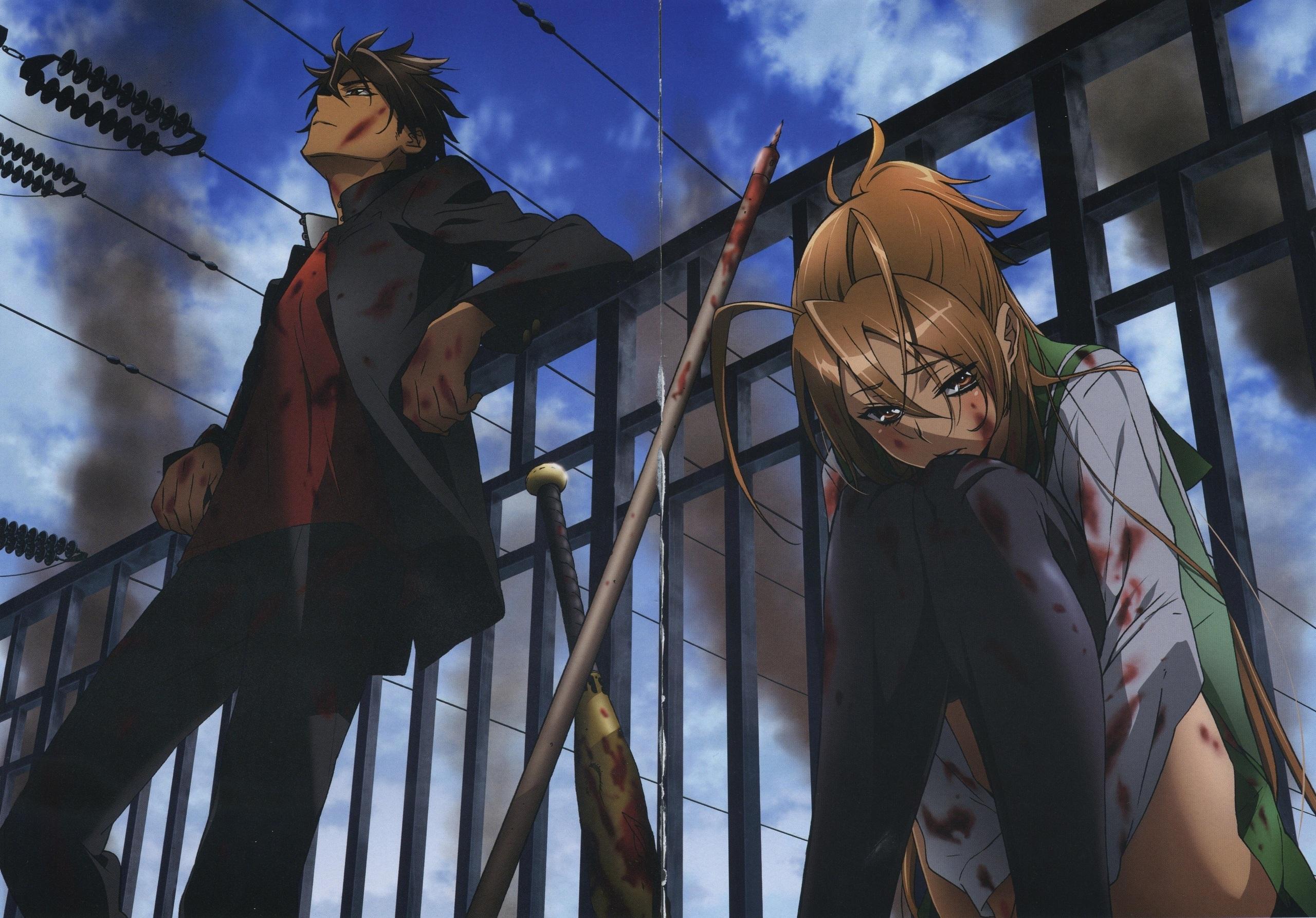 Wallpaper Highschool Of The Dead Anime 2560x1787 Rfeet