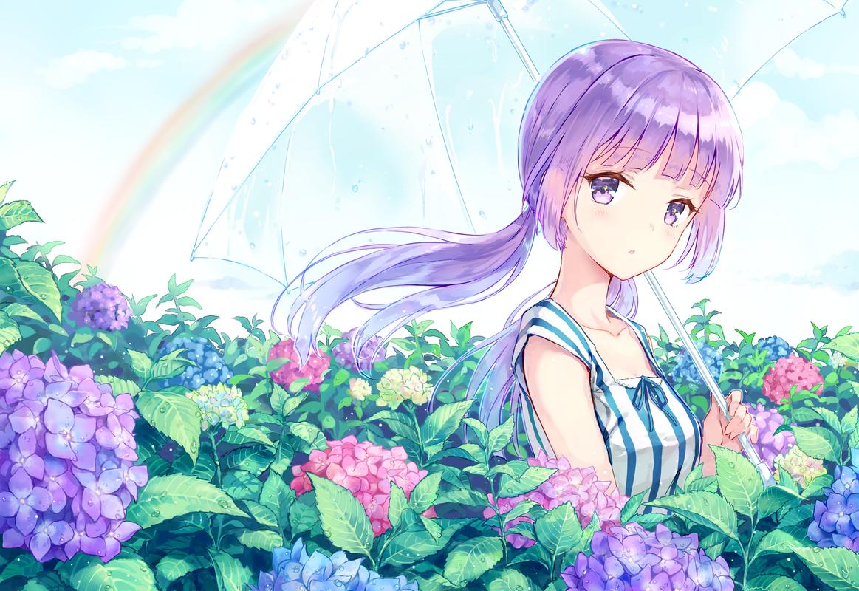 デスクトップ壁紙 Hikami Sumire アイカツ 紫色の髪 紫の目