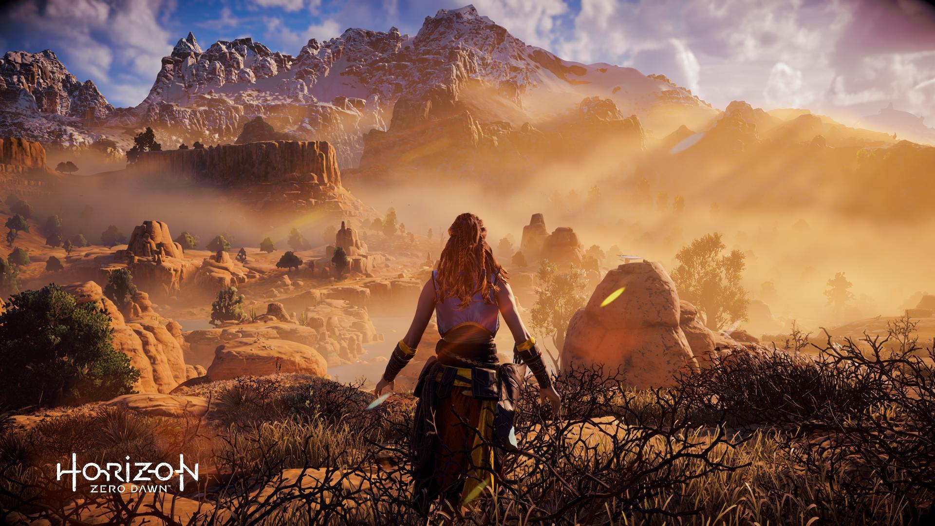 Wallpaper Horizon Zero Dawn Playstation 4 Video Games Aloy