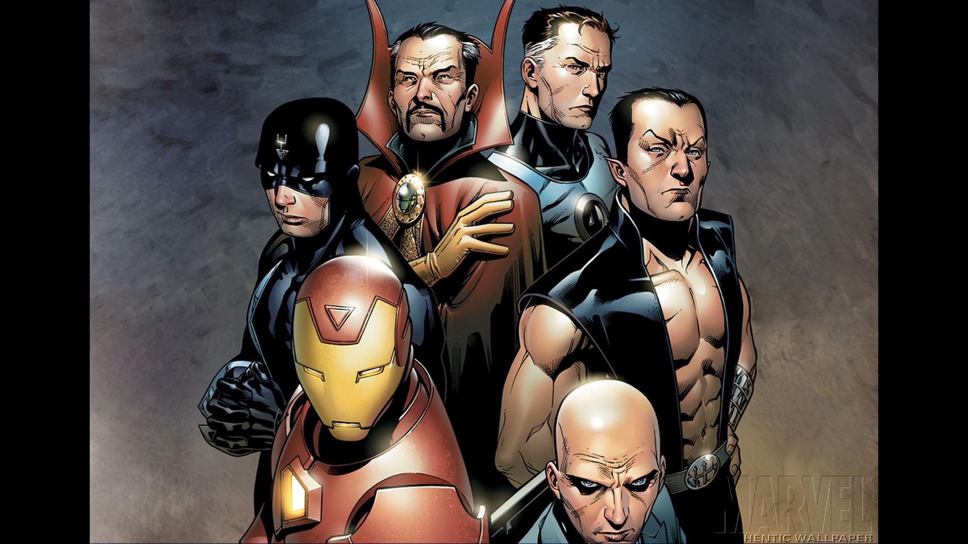 Illuminati Iron Man Charles Xavier Mr Fantastic Doctor Strange Namor Black Bolt Comics Marvel Comics