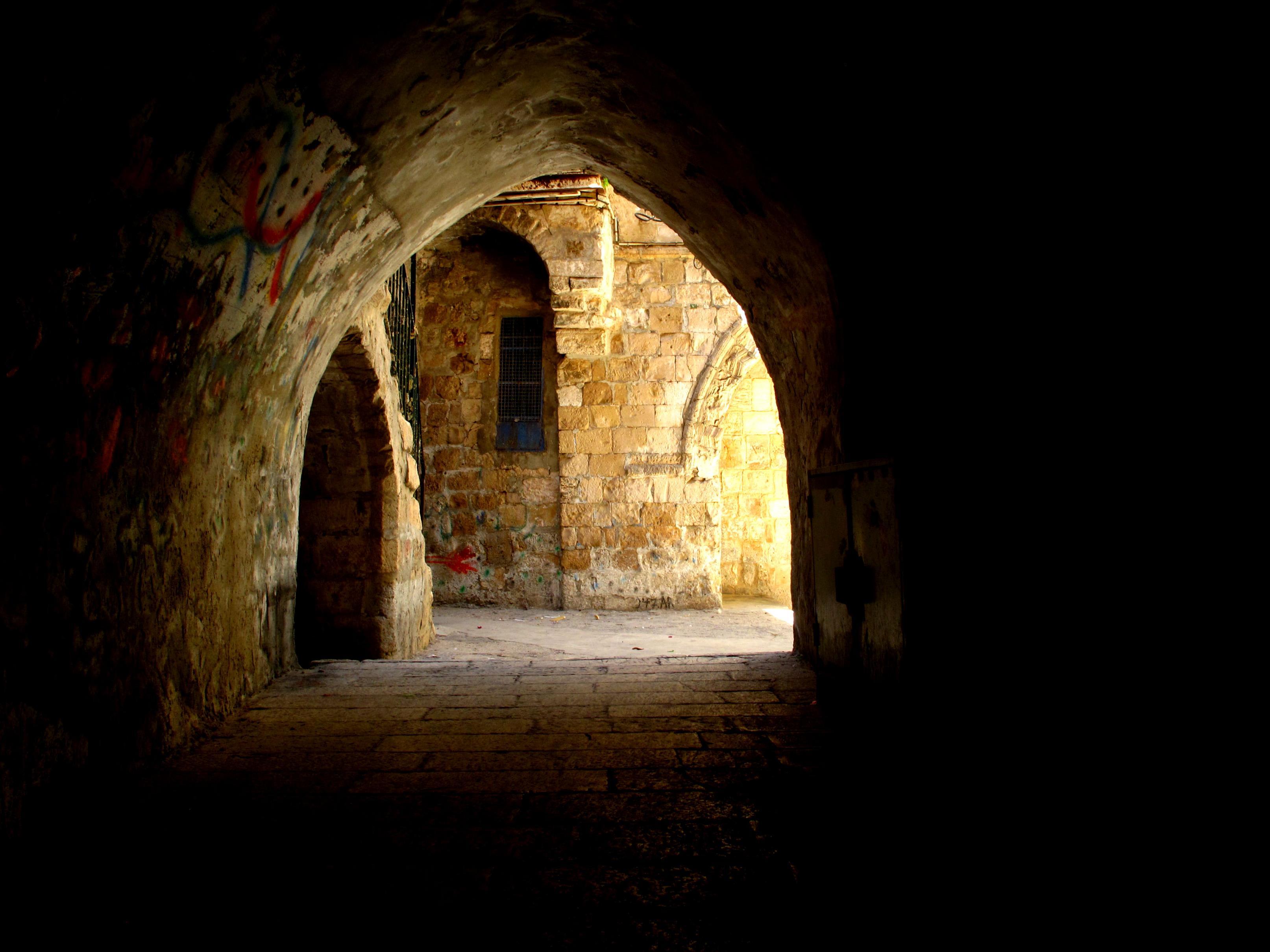 Wallpaper : Israel, Jerusalem, oldcity, alley, arch ...