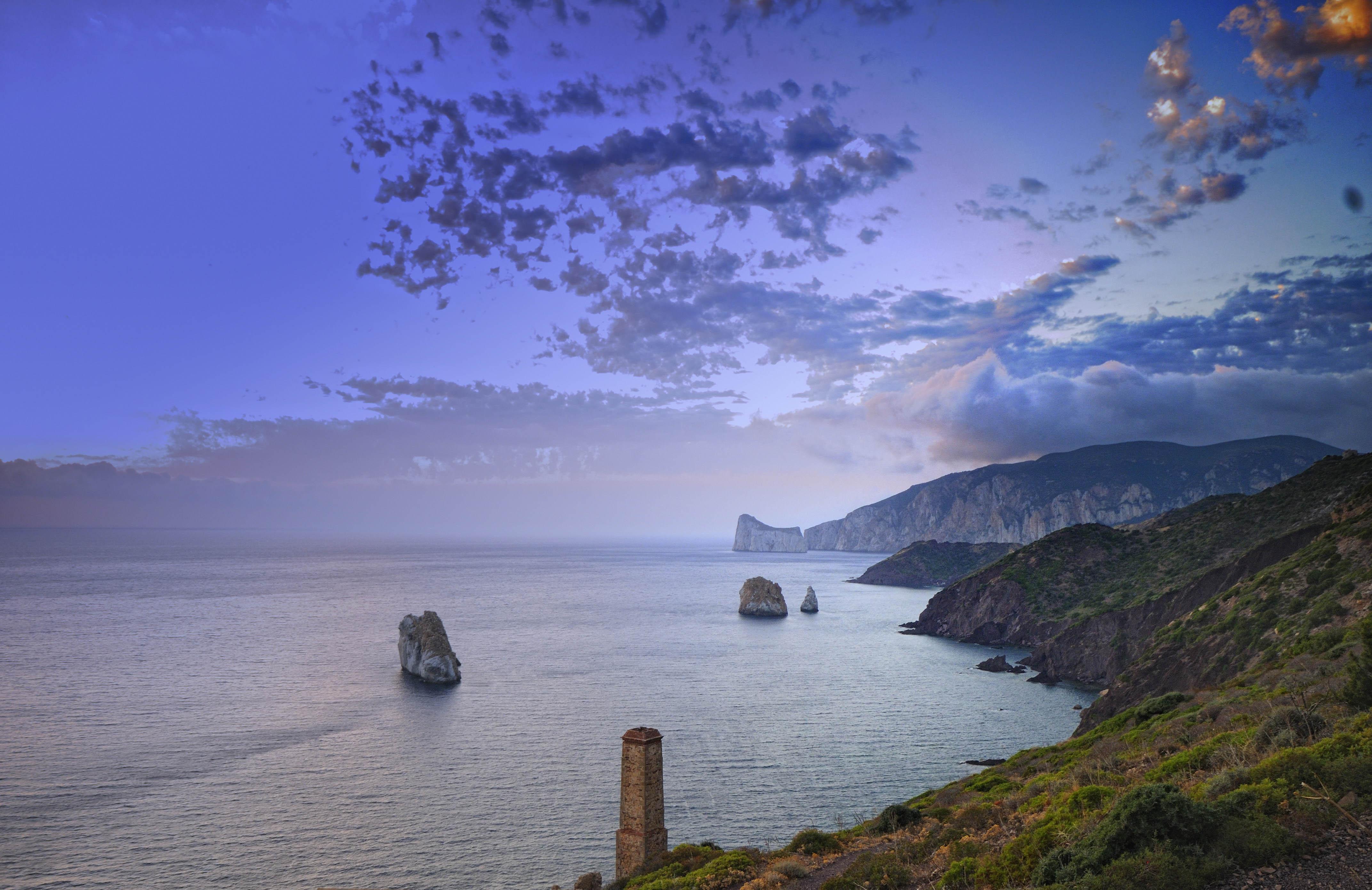 Sfondi Italia Sardegna Costa Acqua Isola Panorama Paesaggio