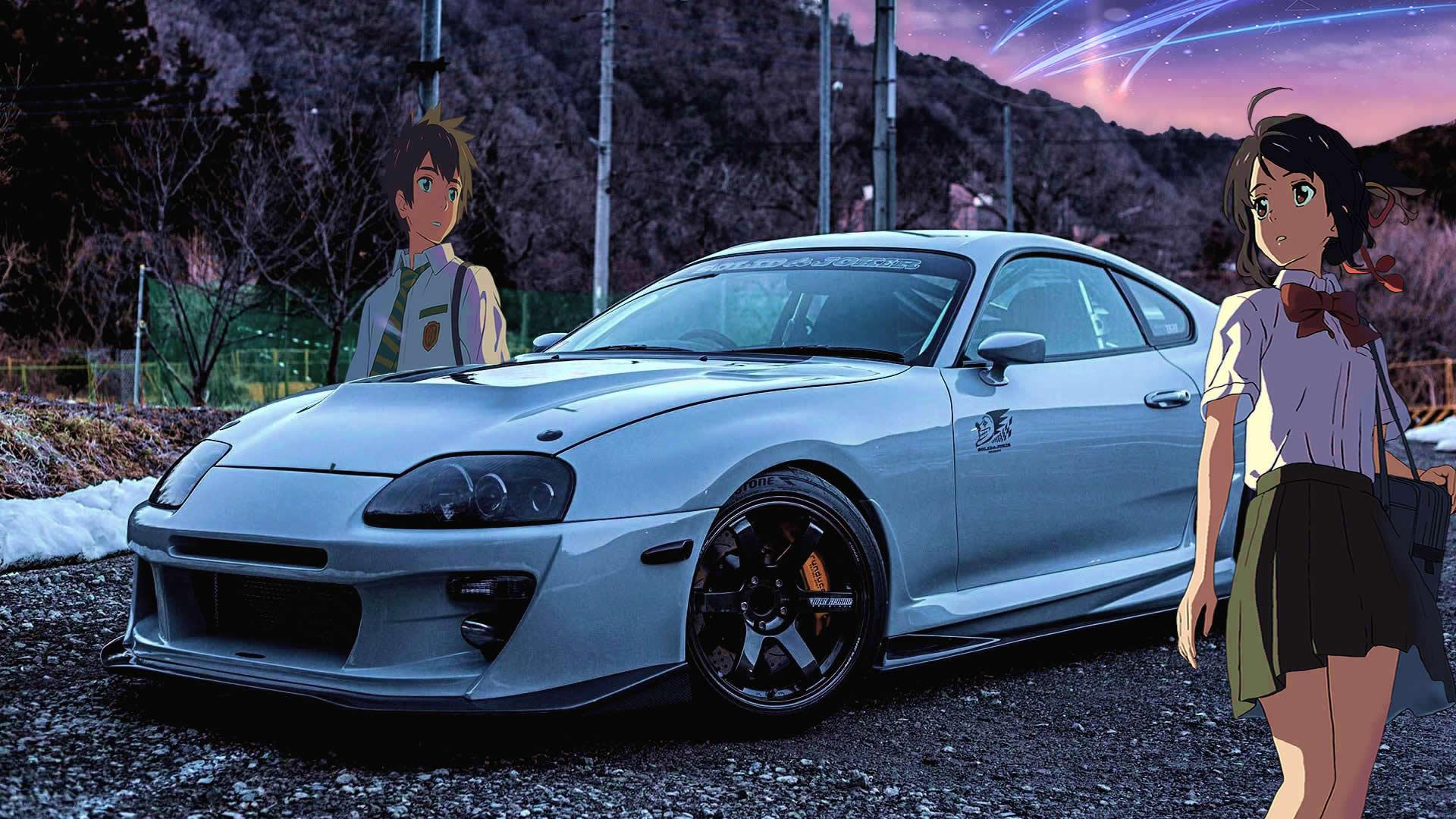 Wallpaper  JDM, Japanese cars, anime, Kimi no Na Wa, Itasha ...