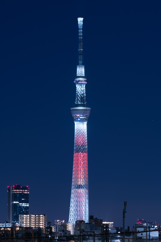 デスクトップ壁紙 日本 シティ 都市景観 夜 建築 スカイライン 超高層ビル タワー ソニー 大都市 東京 Jp スカイツリー 照らされた イルミネーション ランドマーク Tokyoskytree かながふち A6300 6300 Fe700mmf4oss Fe700mmf4 キャンドル