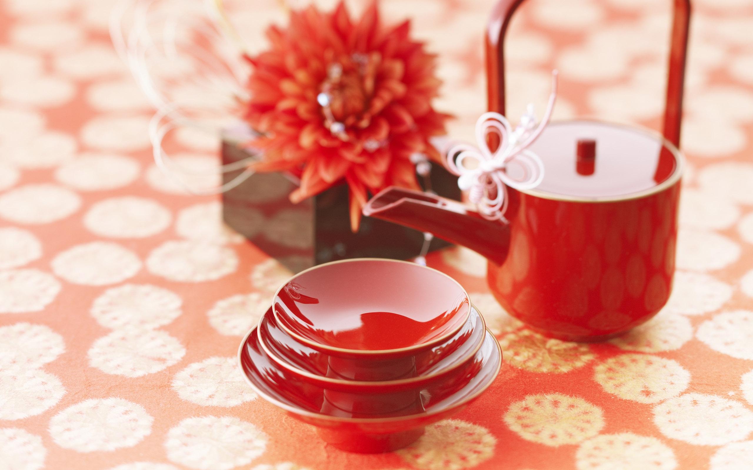 Japan Lebensmittel Blumen China Rot Kaffee Tee Valentinstag Rosa Blume  Kerze Stimmung Beleuchtung Blütenblatt Tassen Produzieren