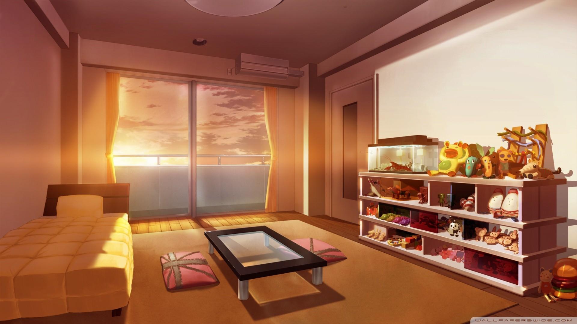 Wallpaper Japan Landscape City Anime Interior Design Peaceful Property Real Estate Recreation Room Living Room Suite 1920x1080 Thorragnarok 30460 Hd Wallpapers Wallhere