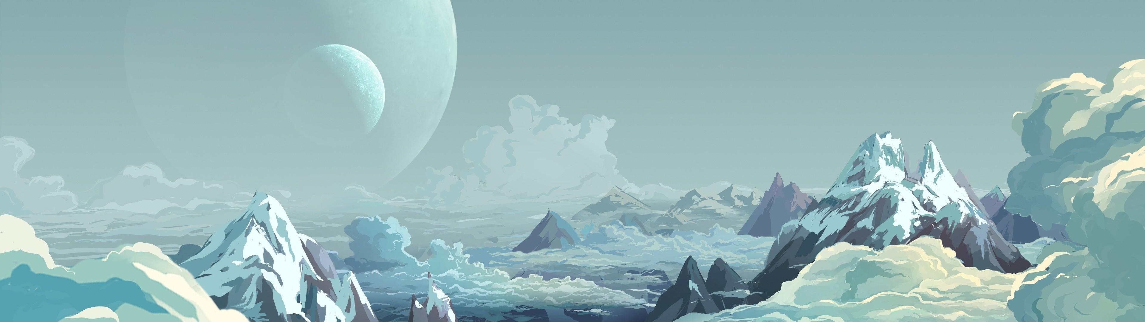 Wallpaper Japan Landscape Mountains Anime Nature Sky Snow