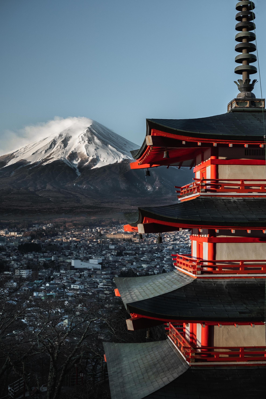 Wallpaper : Jepang, pemandangan, kota, menara, pegunungan