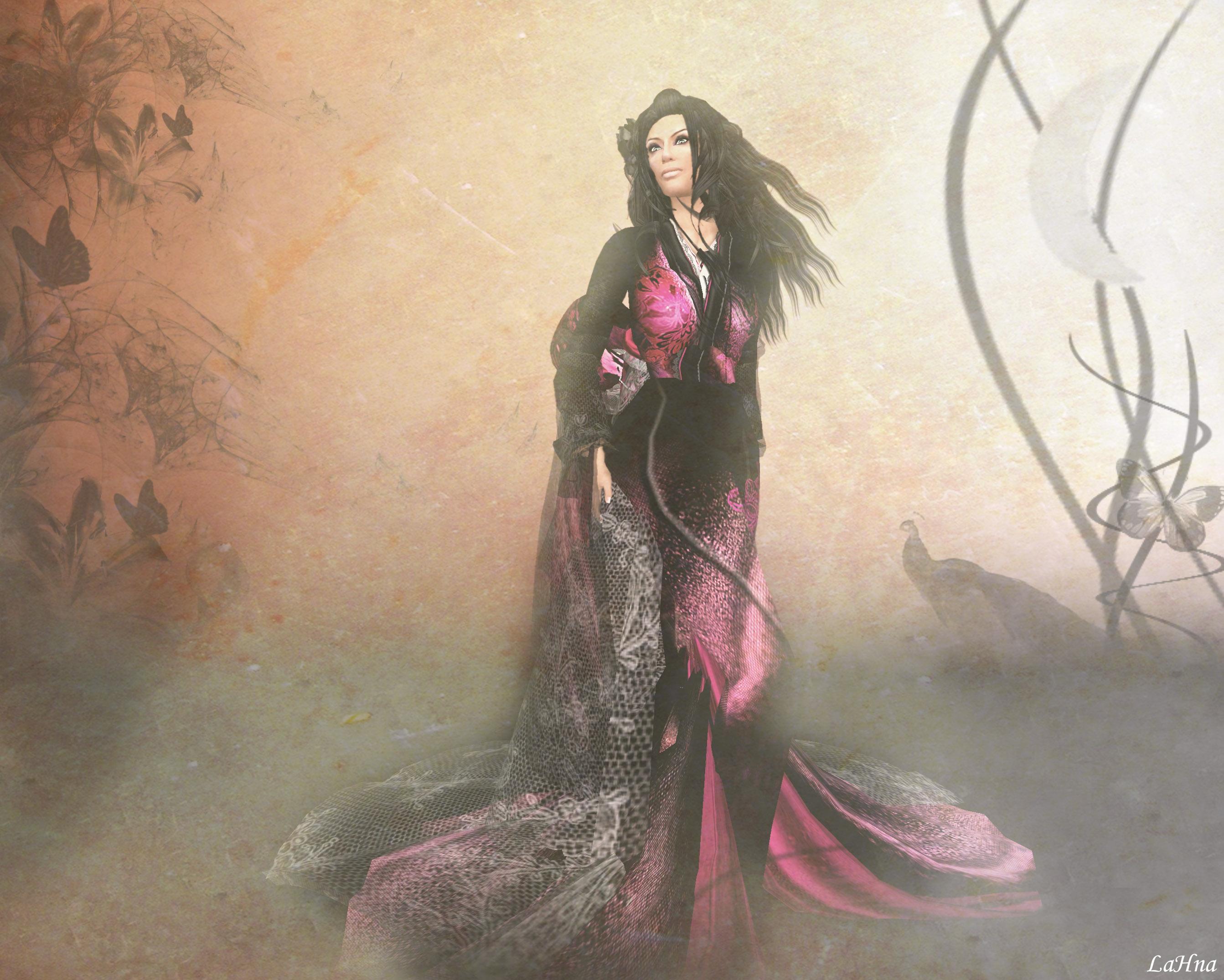 デスクトップ壁紙 日本 ペインティング アジア アバター ピンク 着物 アート 女の子 女性 Sl セカンドライフ Asie ジャポン コンピュータの壁紙 衣装デザイン ラナパイン Cg Artwork 2685x2151 デスクトップ壁紙 Wallhere