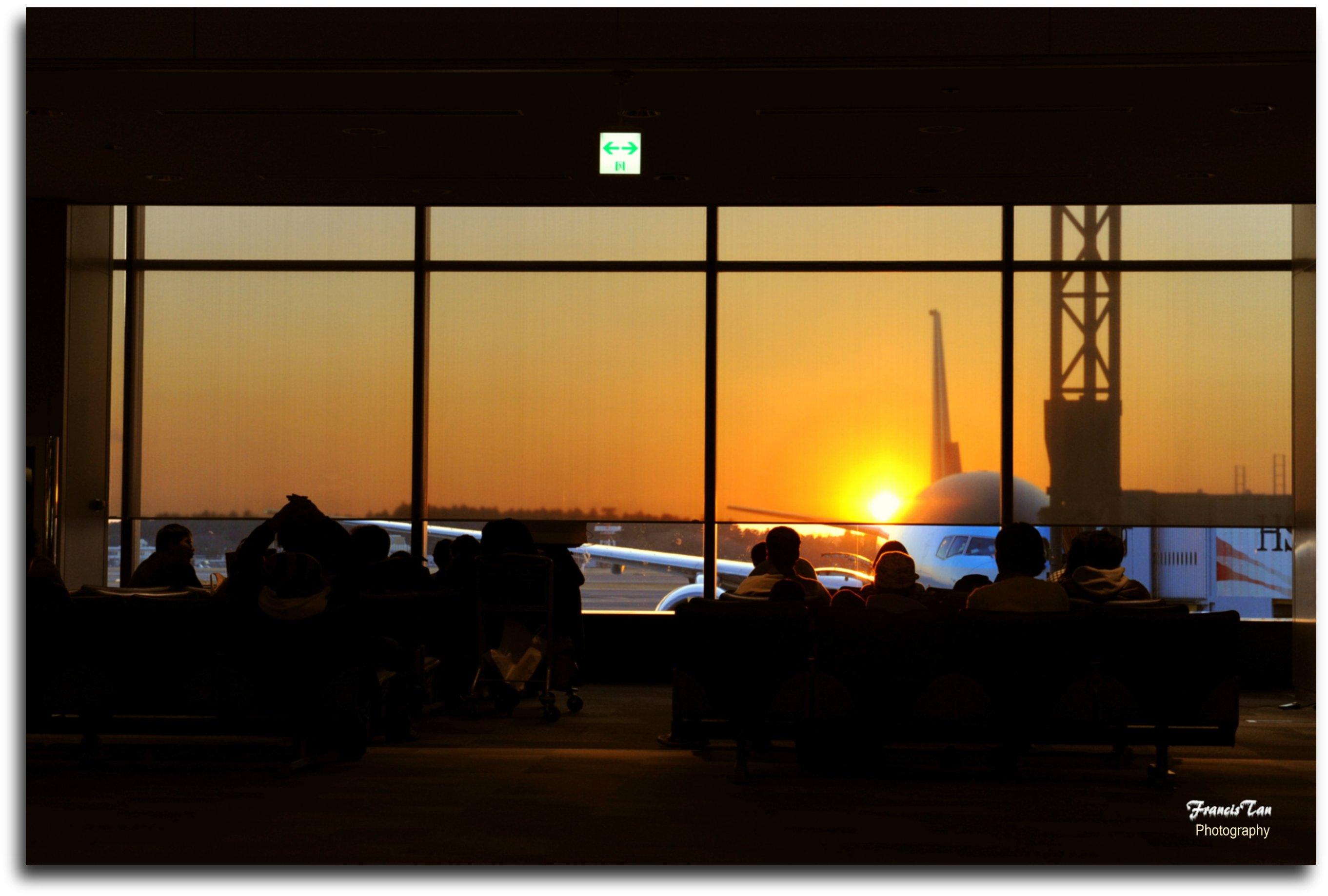 Hintergrundbilder : Japan, Sonnenuntergang, Silhouette, Flugzeug ...
