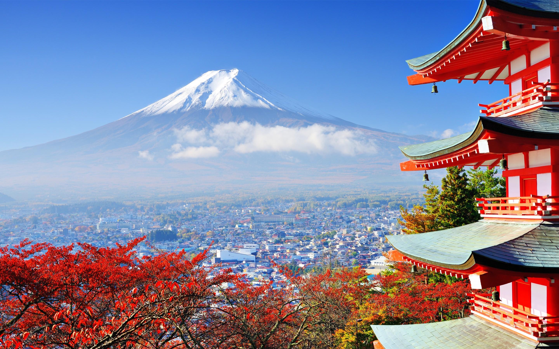Fond d'écran : Japon, des arbres, Montagnes, Mont Fuji, Architecture asiatique, la nature ...