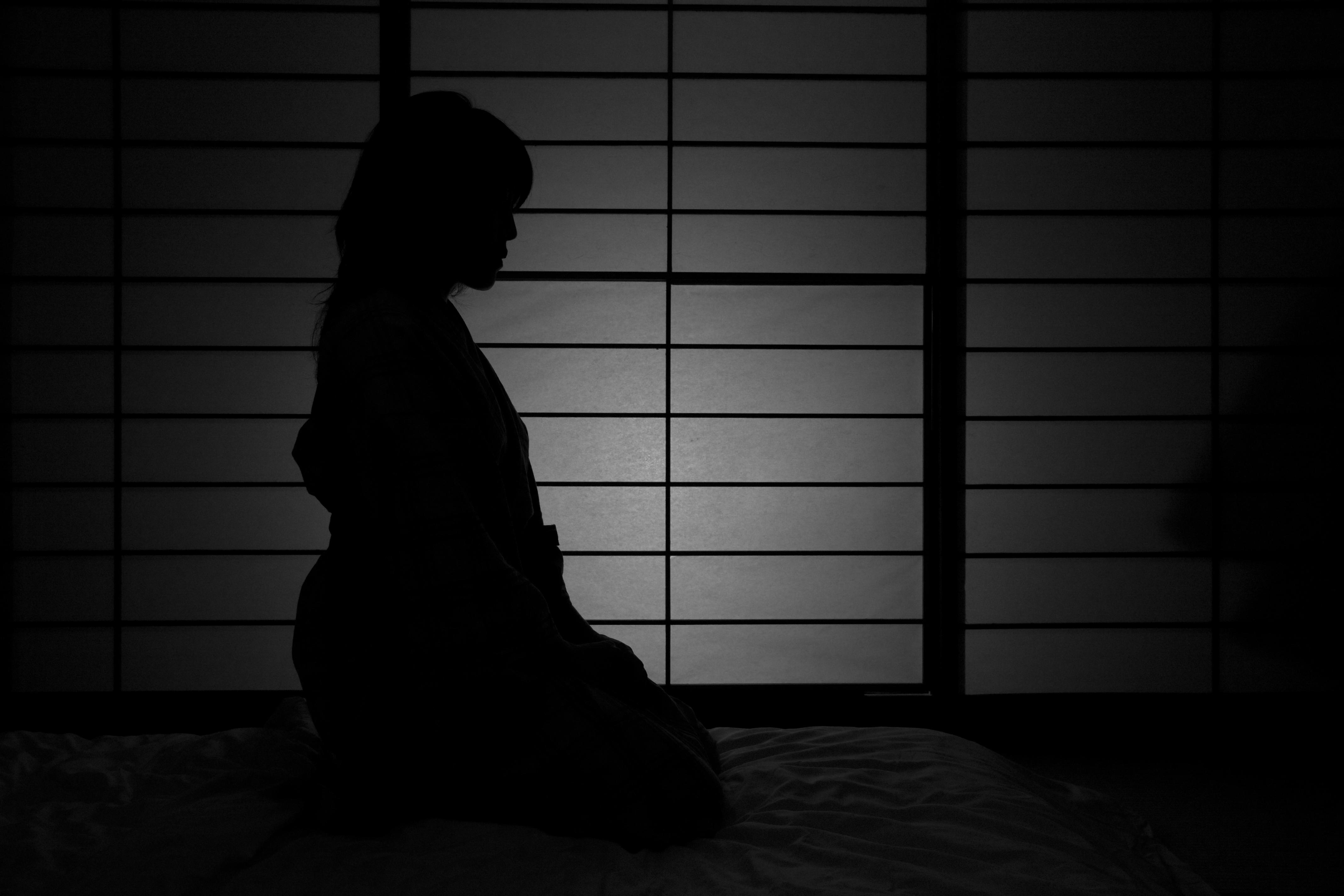 Wallpaper Japan Window Dark Night Reflection Shadow