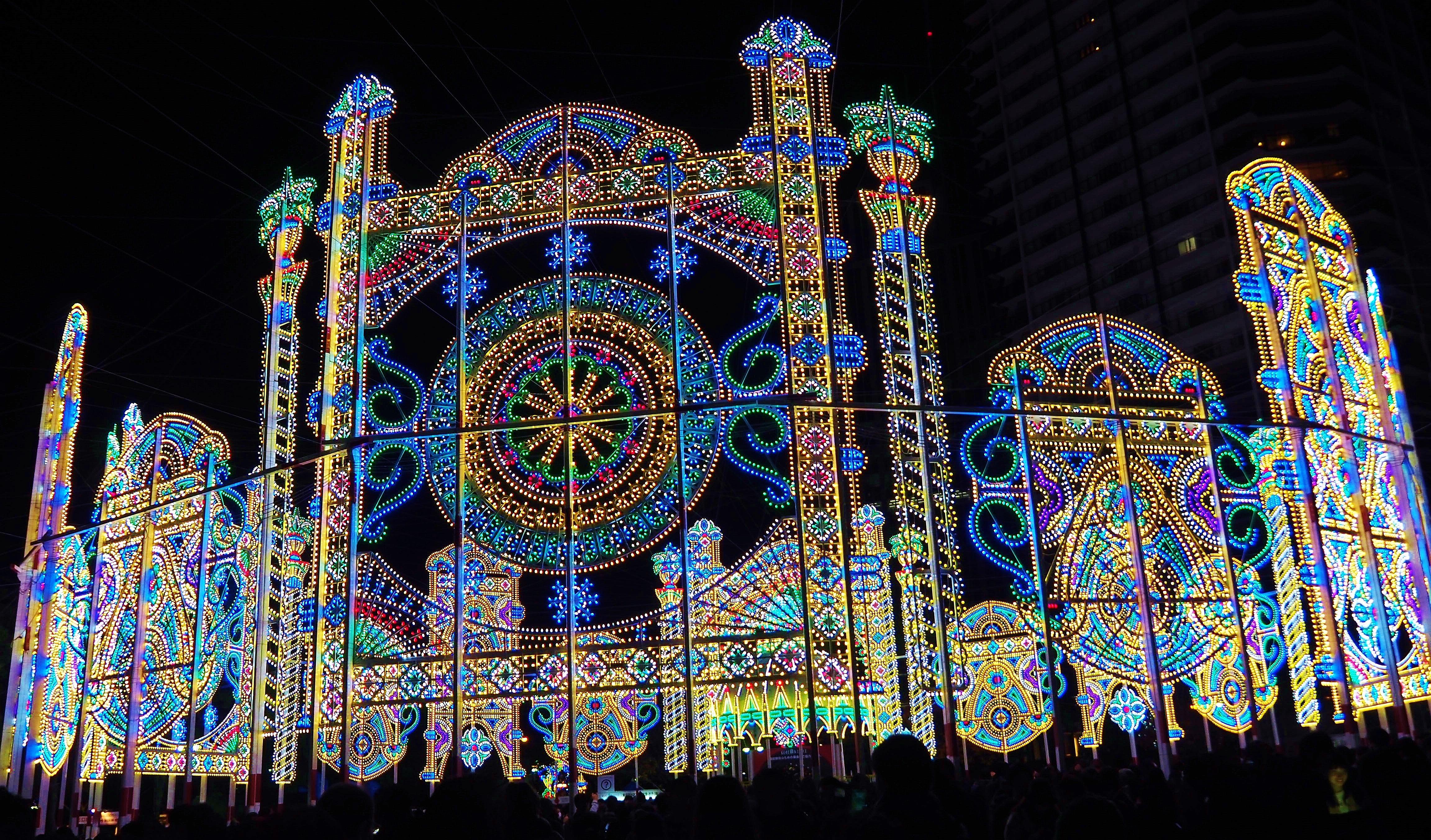 Fenster Weihnachtsbeleuchtung.Hintergrundbilder Japan Fenster Symmetrie Glas