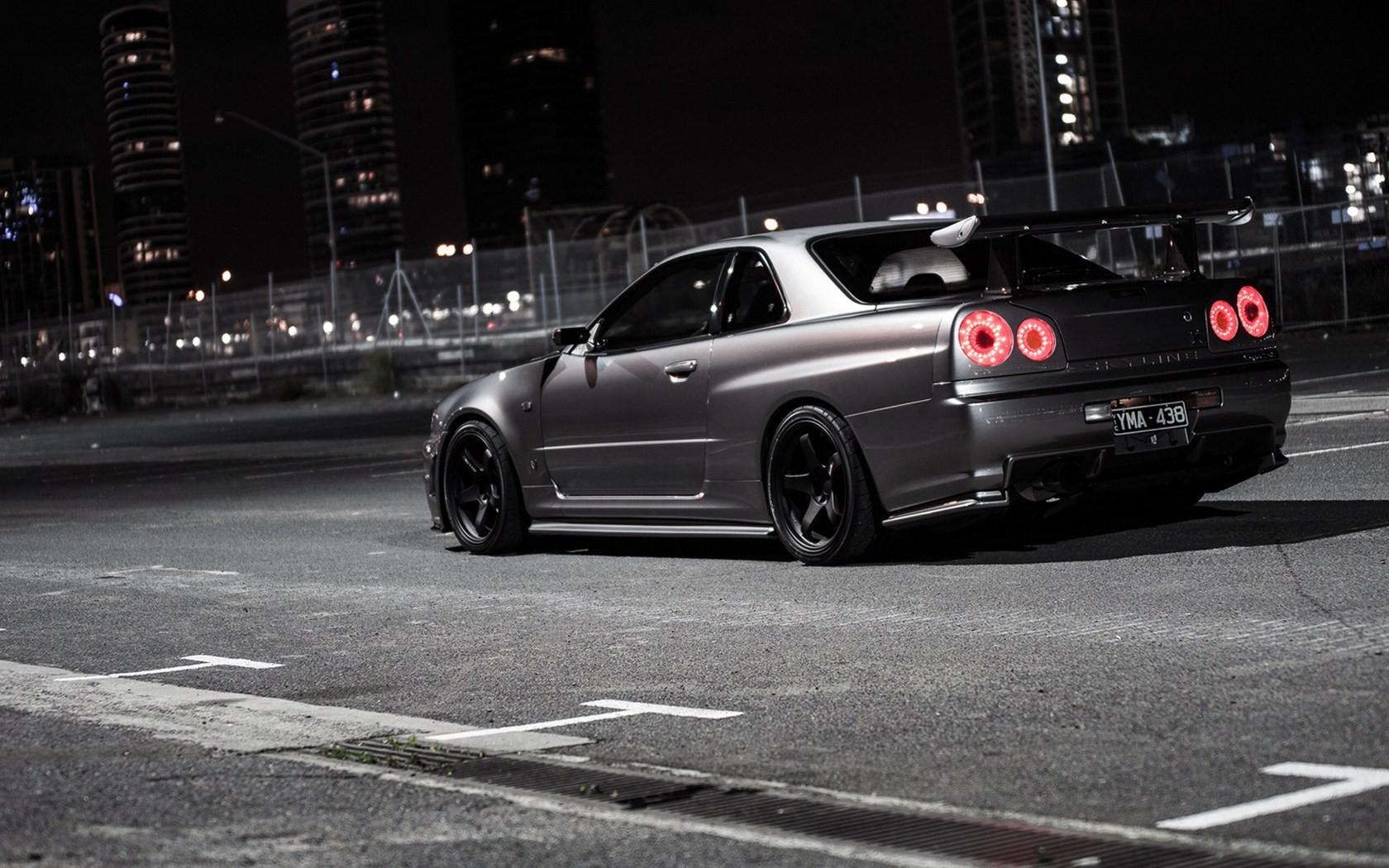 fond d 39 cran voitures japonaises v hicule jdm voiture de sport nissan skyline gt r r34. Black Bedroom Furniture Sets. Home Design Ideas