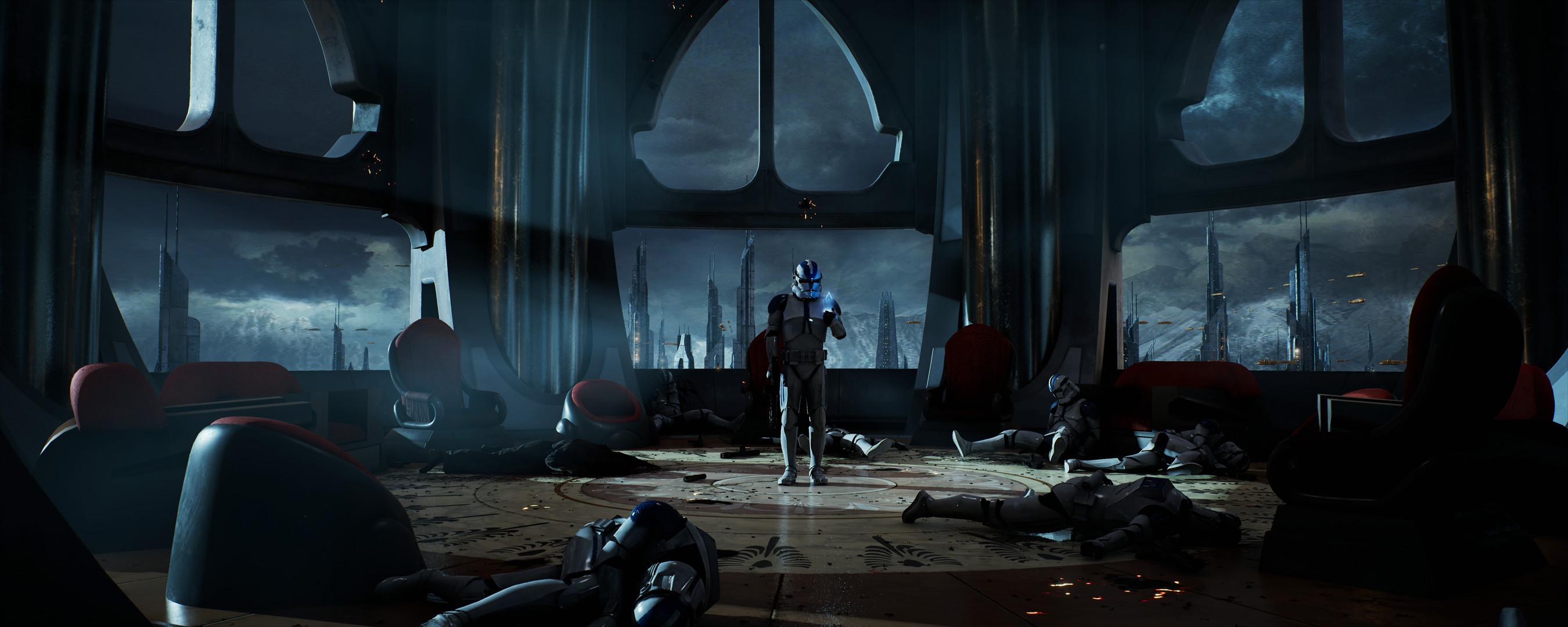 Wallpaper Jedi Temple Dark Star Wars Clone Trooper Coruscant Order 66 2700x1080 Wallpapermaniac 1881855 Hd Wallpapers Wallhere