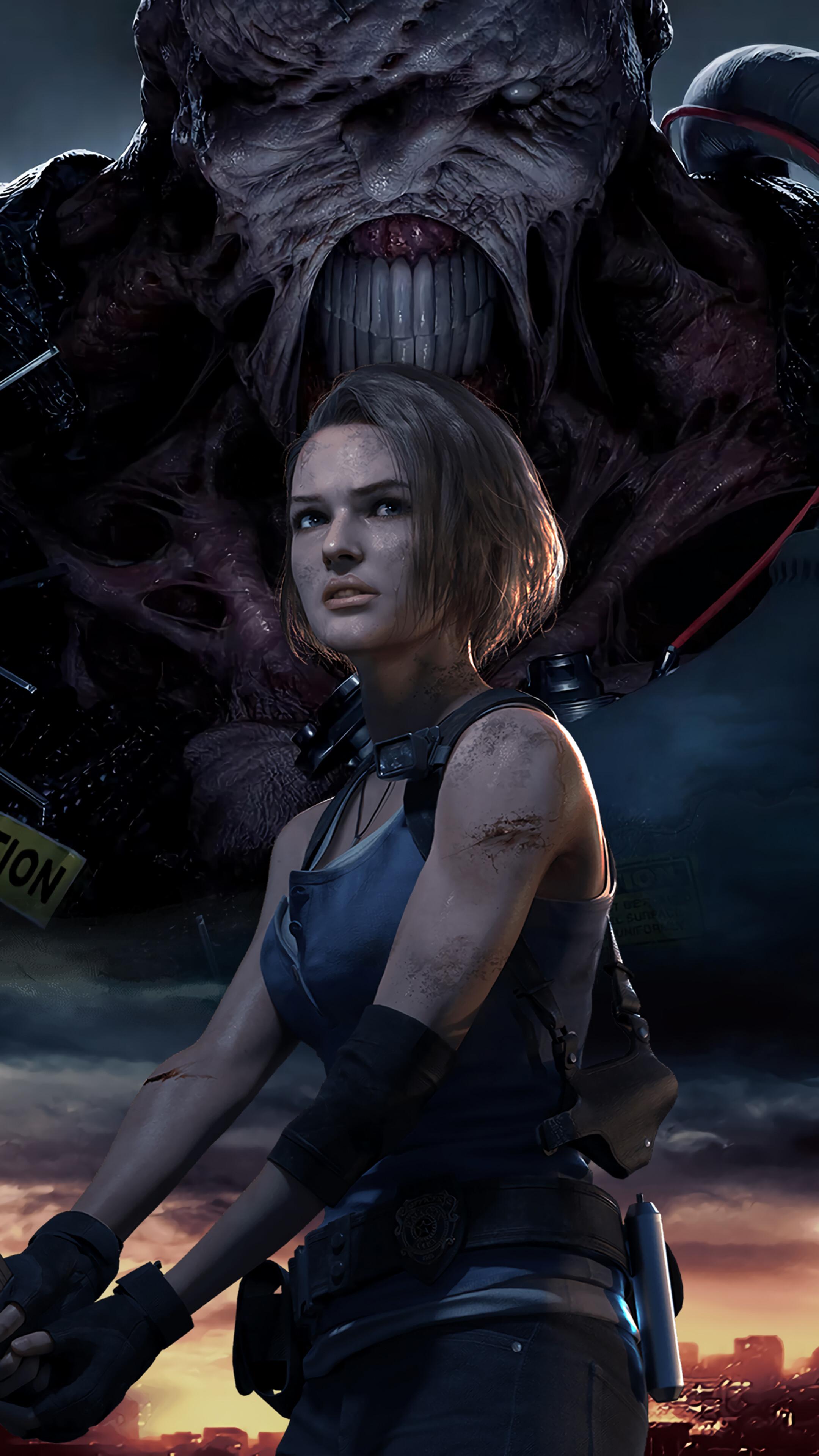 デスクトップ壁紙 ジルバレンタイン ネメシス Resident Evil 3