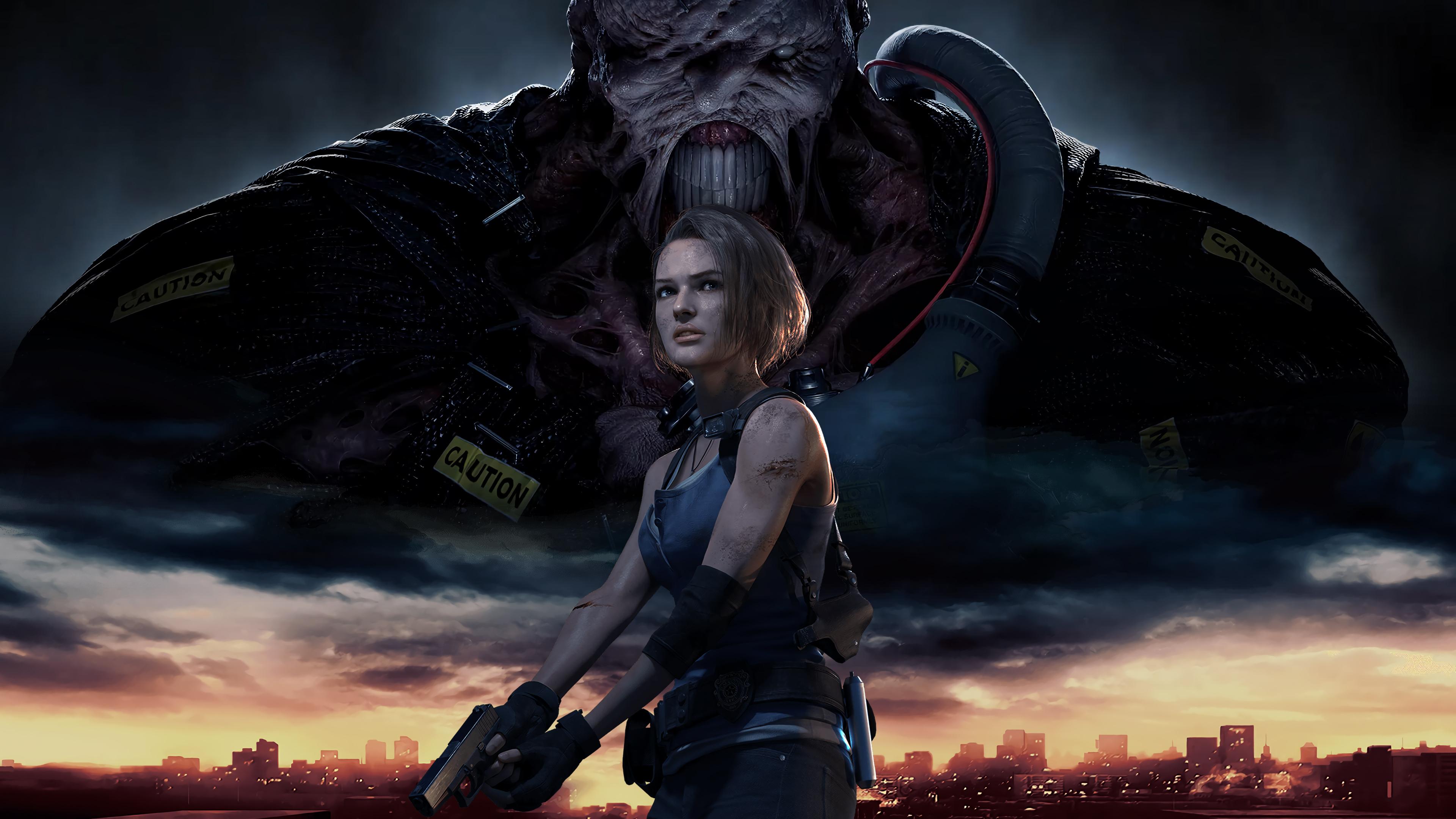 Wallpaper Jill Valentine Nemesis Resident Evil 3