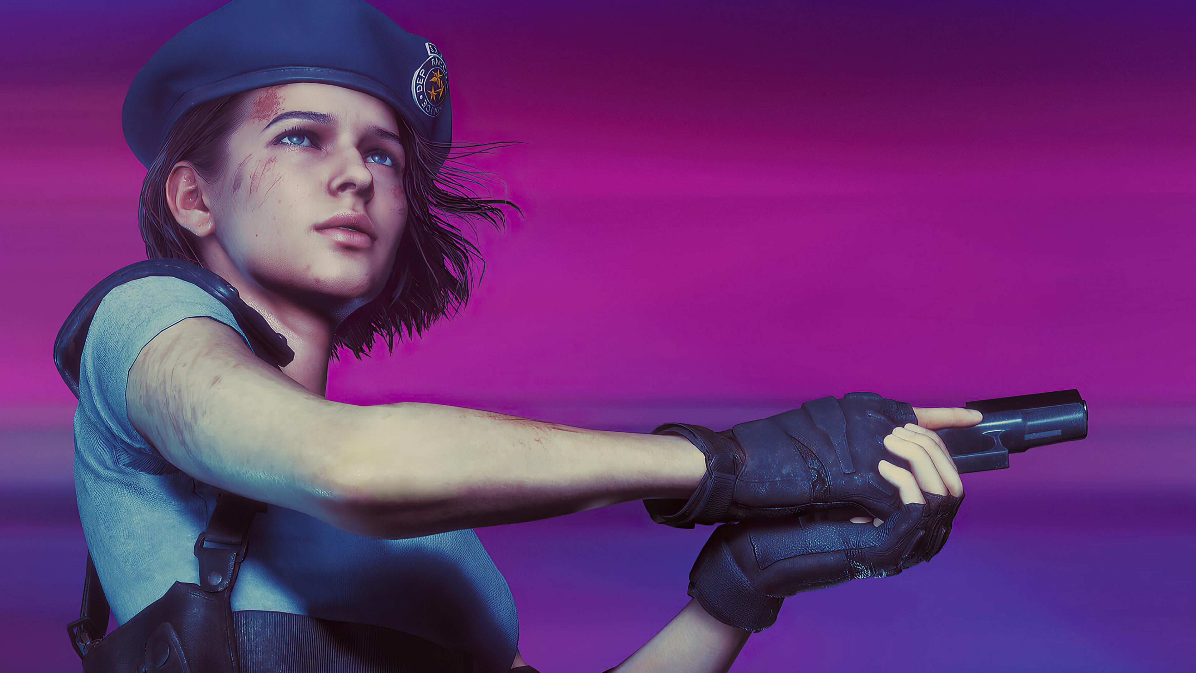 Wallpaper Jill Valentine Resident Evil 3 Remake Resident Evil