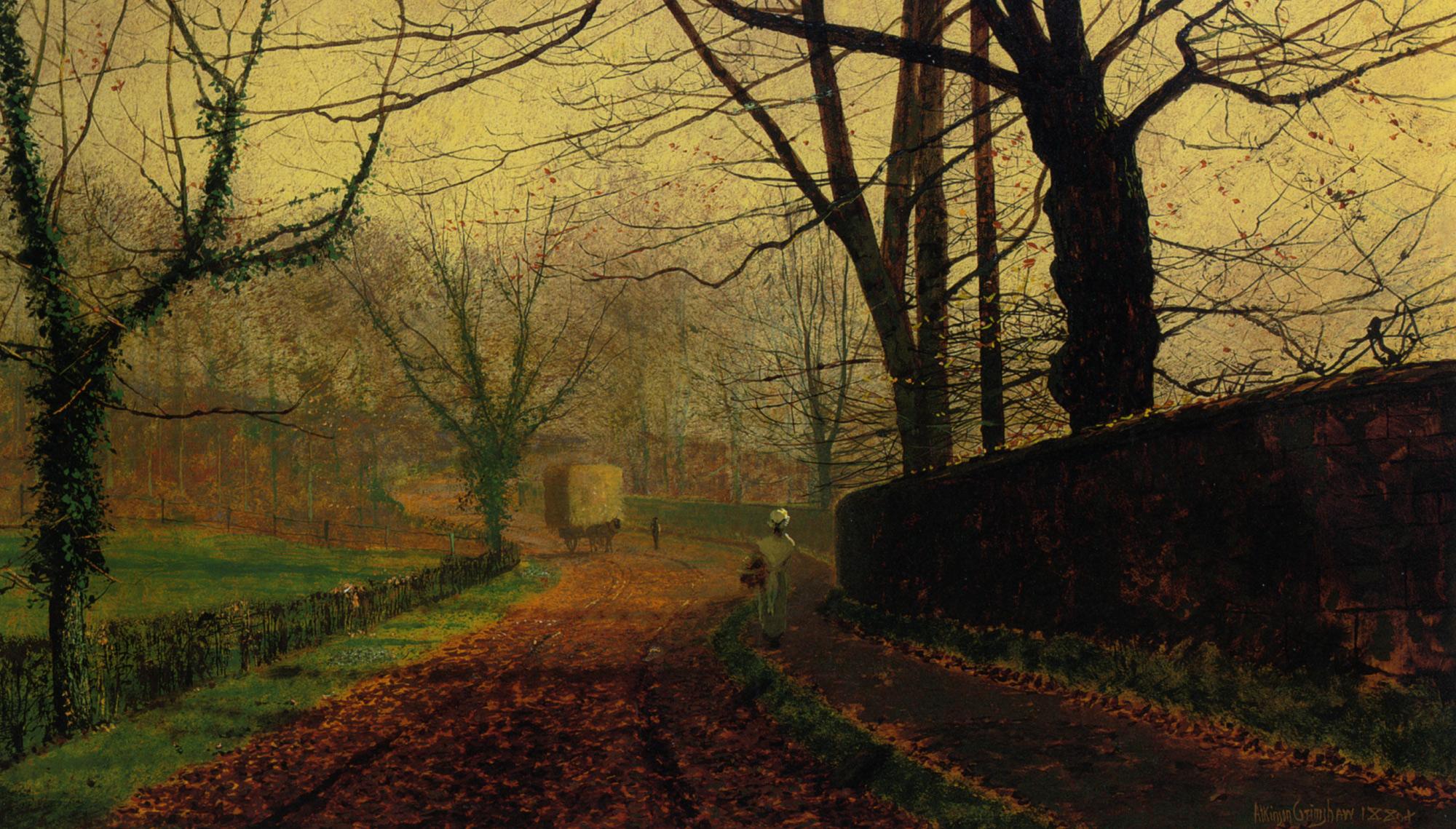 Wallpaper John Atkinson Grimshaw Painting Classical Art Fall