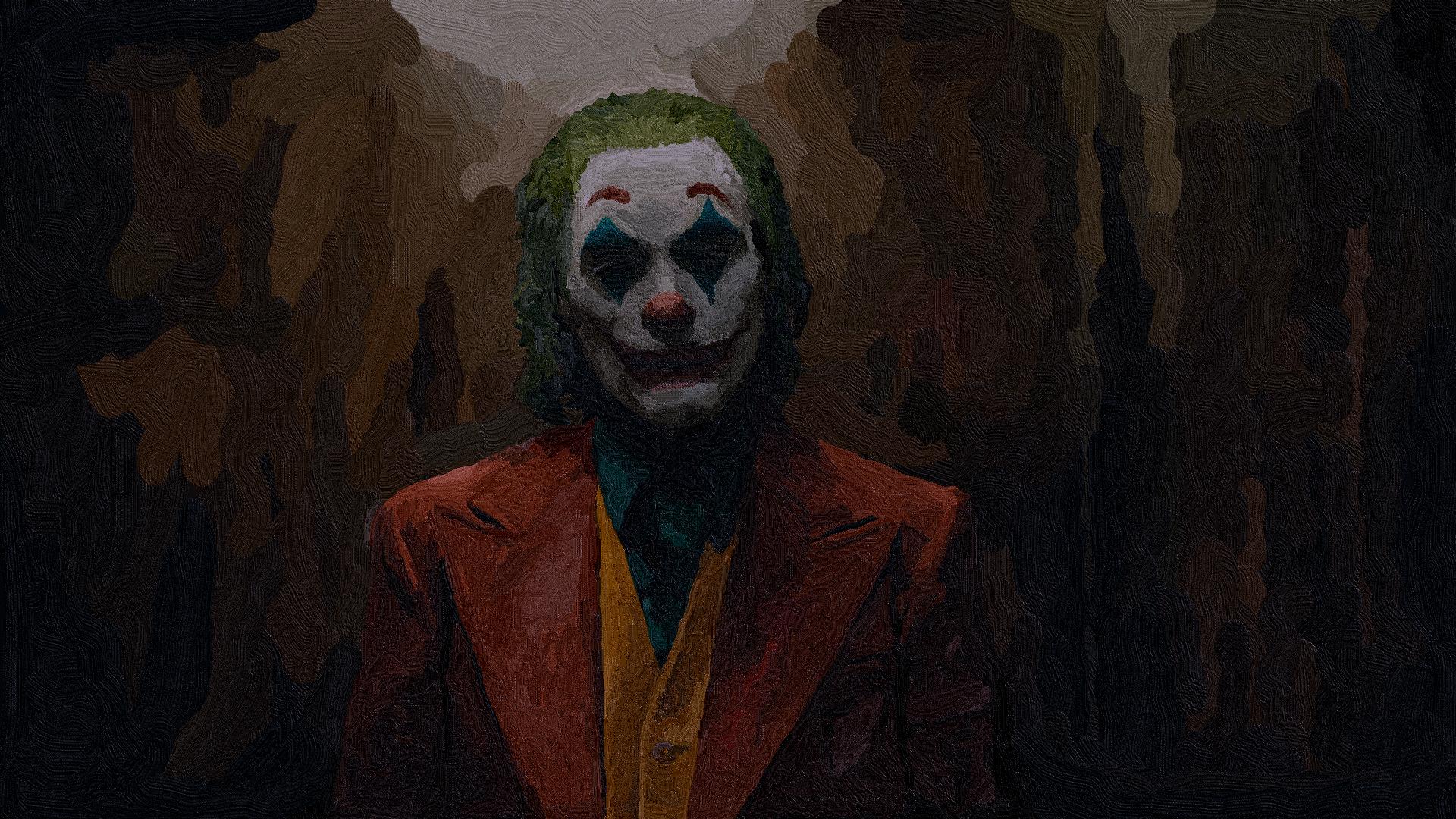 Wallpaper Joker 2019 Movie Paint Brushes 1920x1080