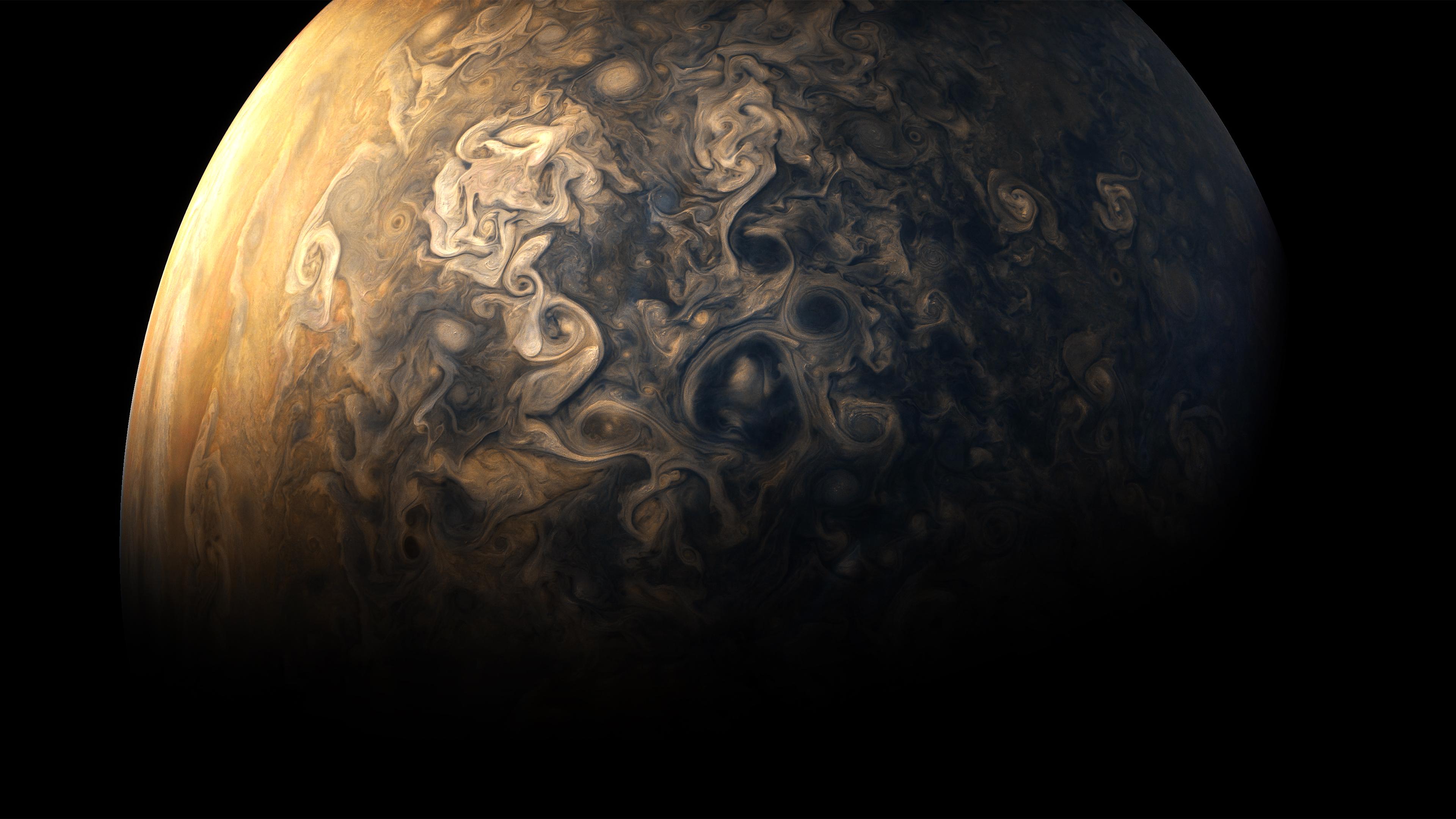 Wallpaper Jupiter Atmosphere Planet Black Background