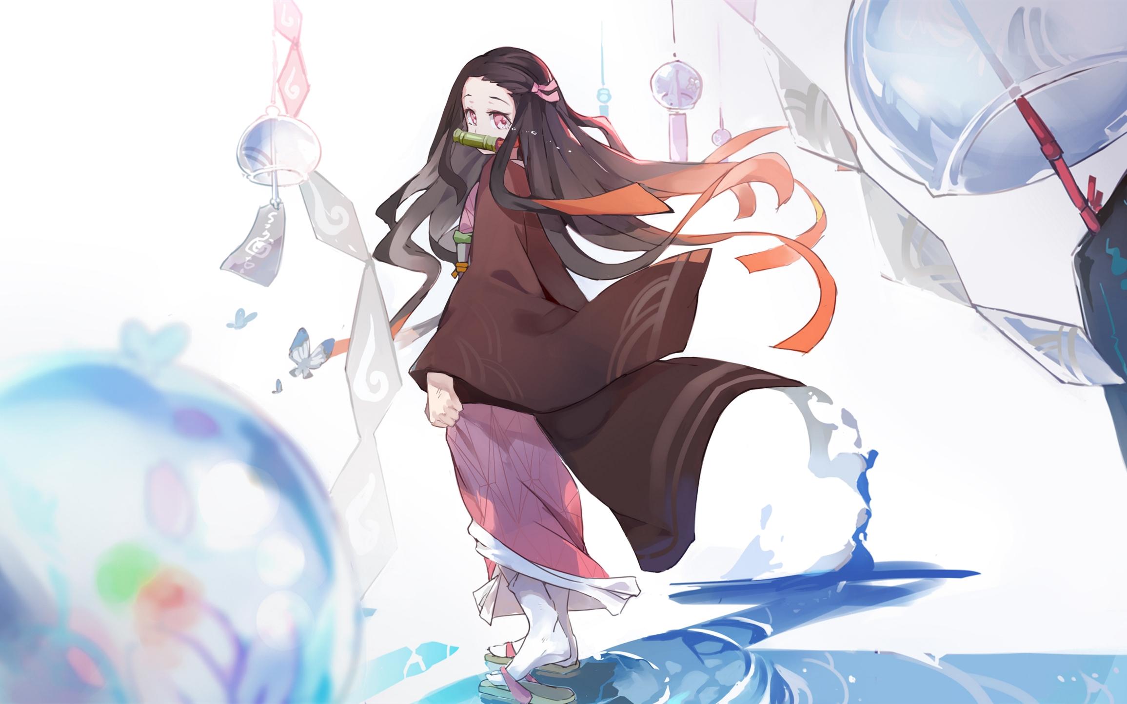 Wallpaper Kamado Nezuko Kimetsu No Yaiba Manga Anime