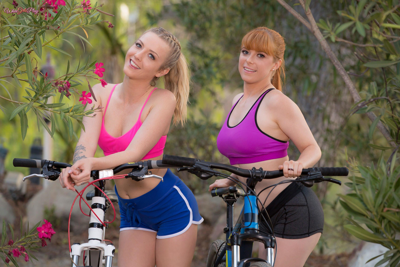 Karla Kush Penny Pax Model Women Bicycle Smiling