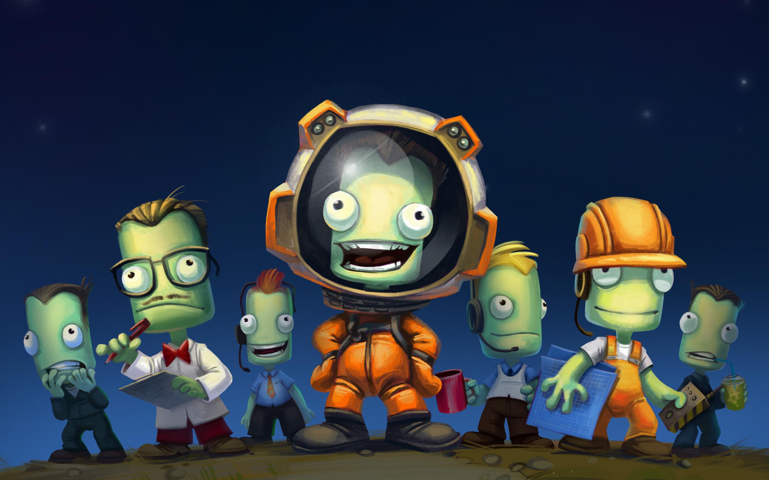 Wallpaper : Kerbal Space Program, space, video games, indie games