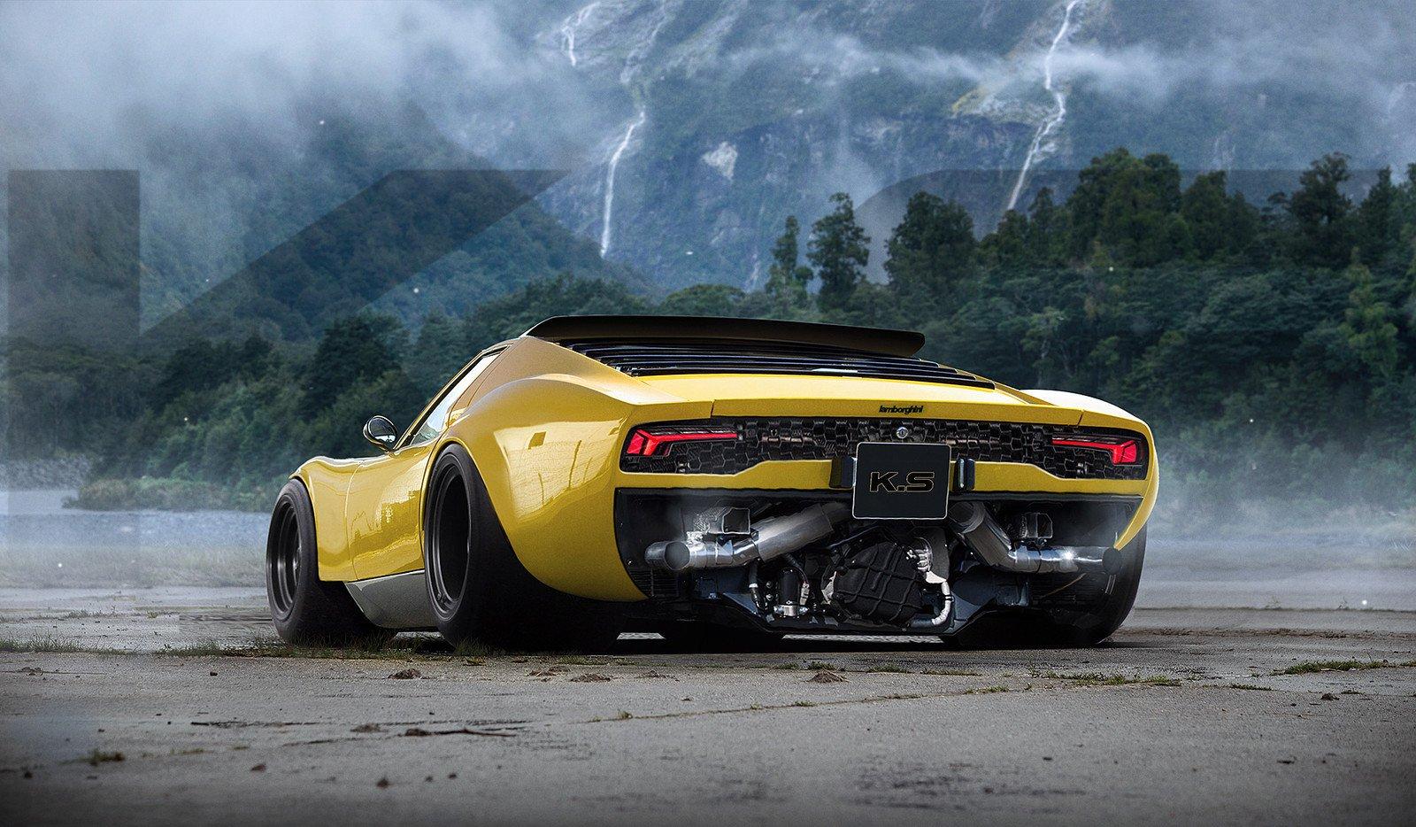 Wallpaper Khyzyl Saleem Car Render Digital Art Lamborghini