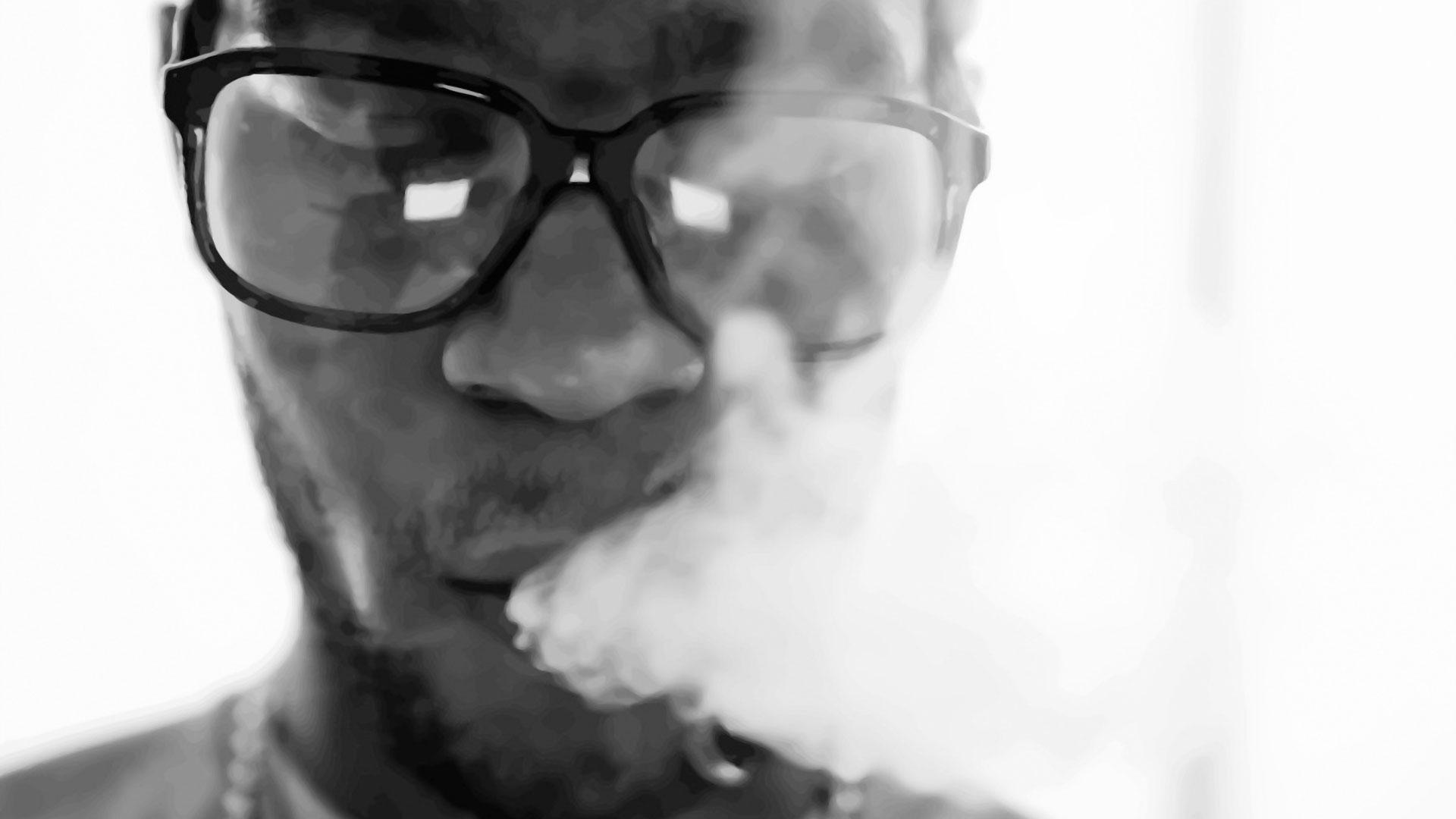 Kid Cudi smoke glasses face bristle