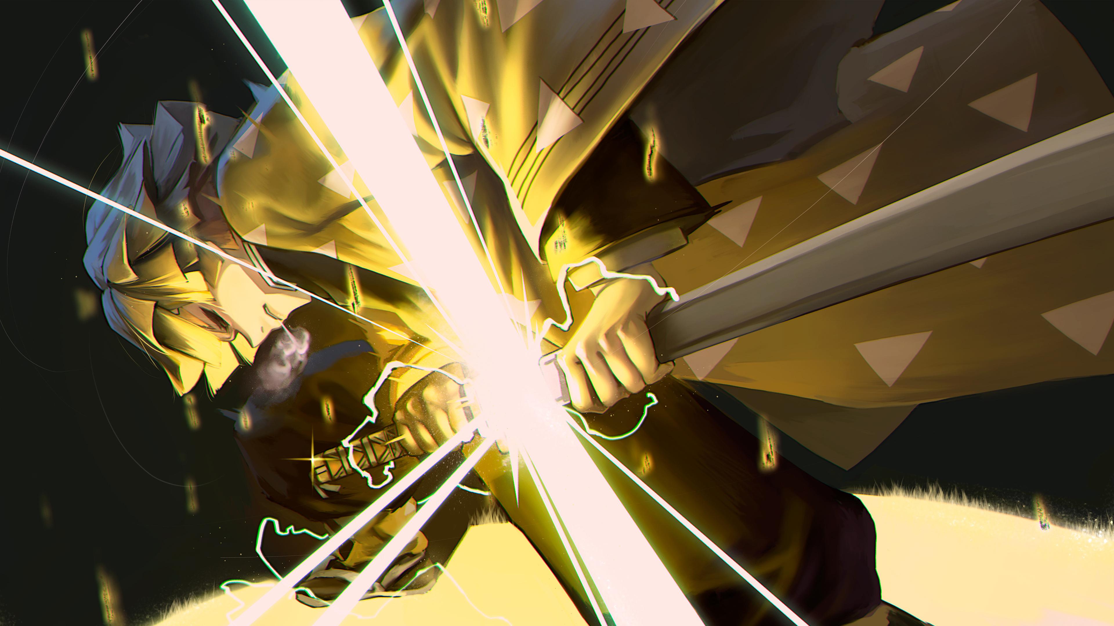 Wallpaper Kimetsu No Yaiba Zenitsu Agatsuma Anime