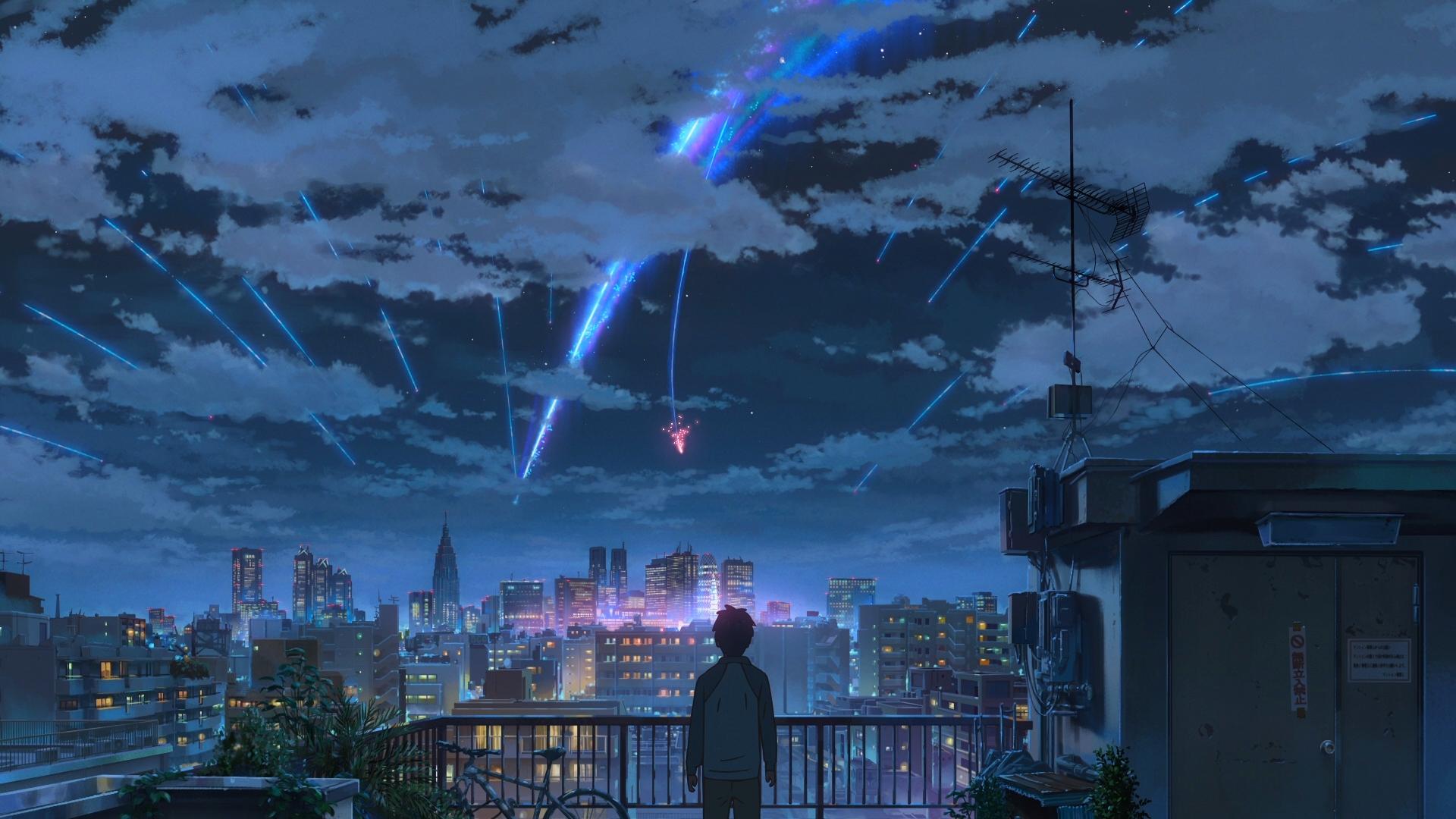 Wallpaper Kimi No Na Wa Makoto Shinkai Starry Night