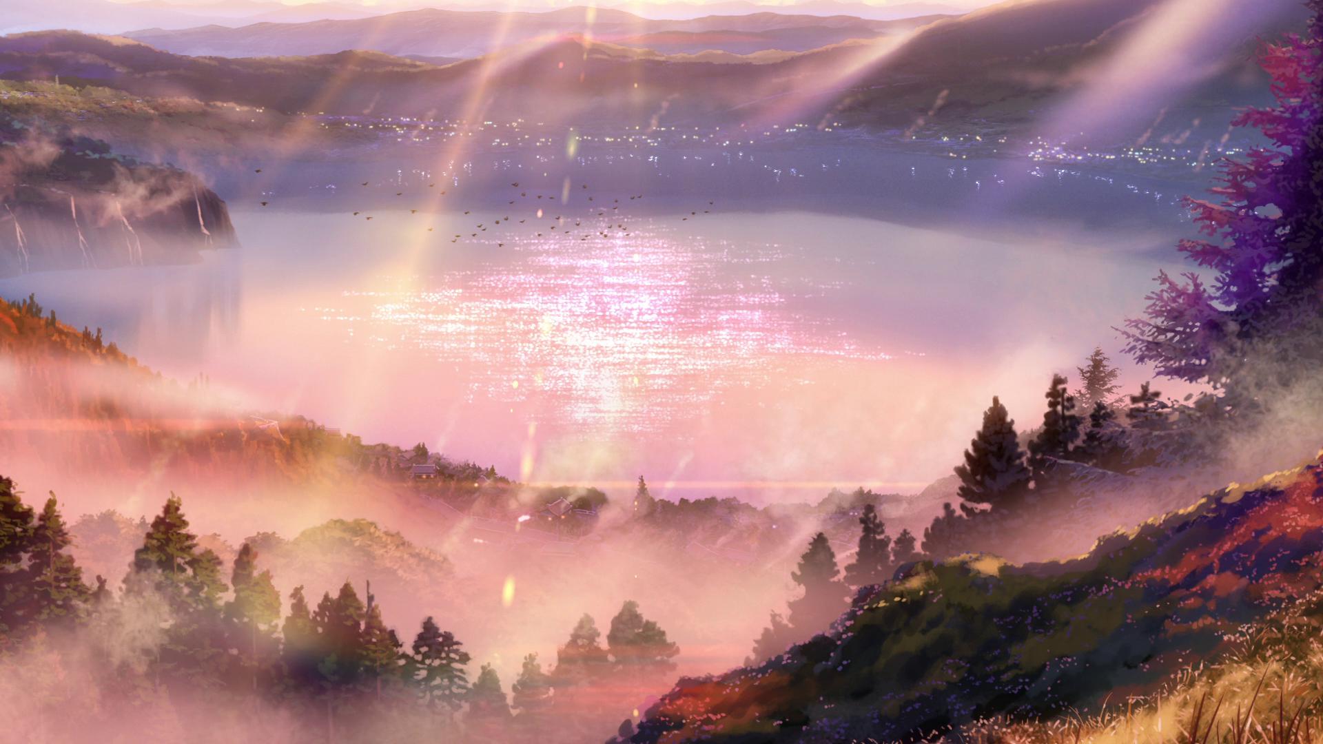Wallpaper Kimi No Na Wa Your Name Landscape Mountains