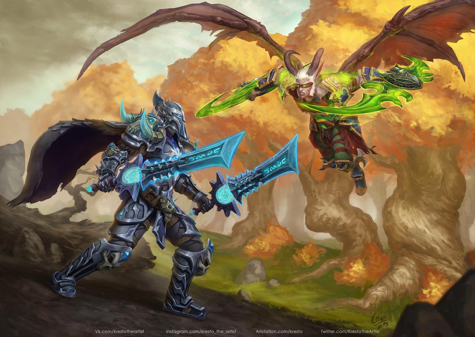 Wallpaper Kirill Stepanov Drawing Warcraft Death Knight
