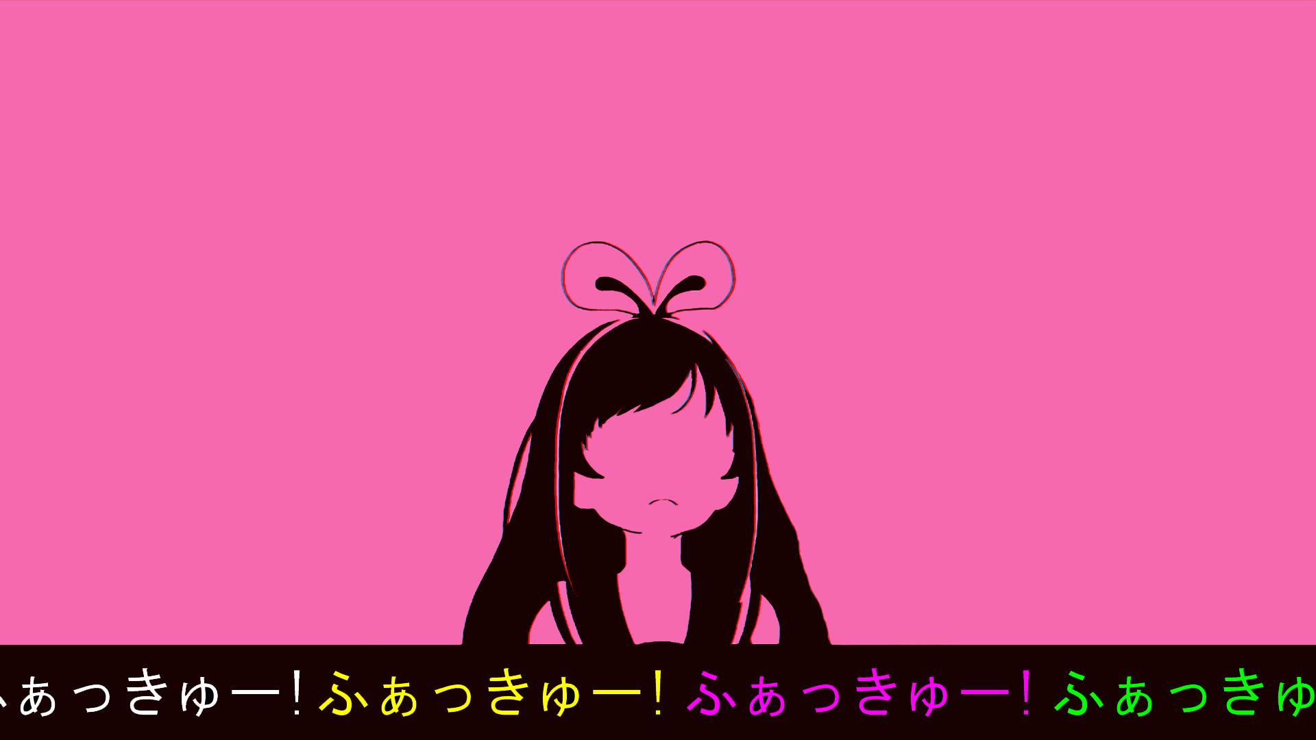 Wallpaper Kizuna Ai Simple Background Anime Girls Fuck