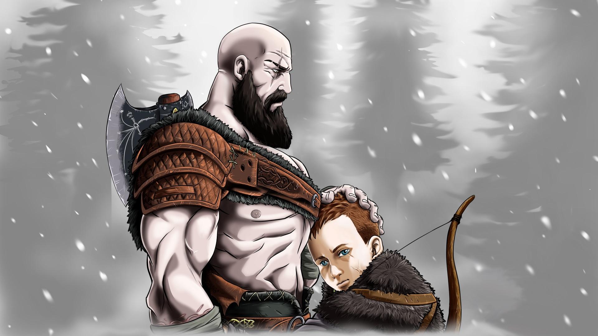 Wallpaper Kratos God Of War God Of War 4 Father