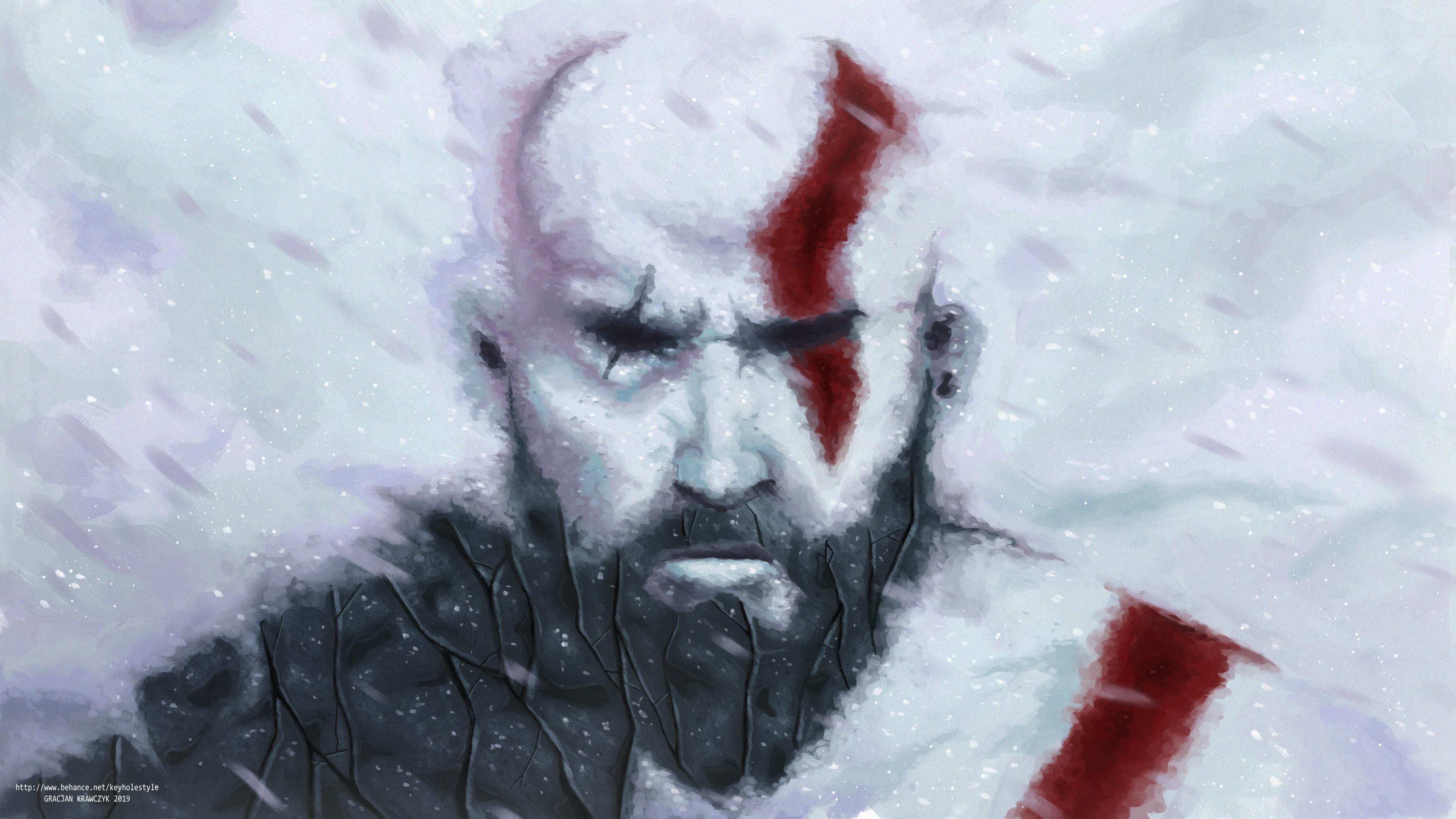Wallpaper Kratos God Of War Video Games 3840x2160