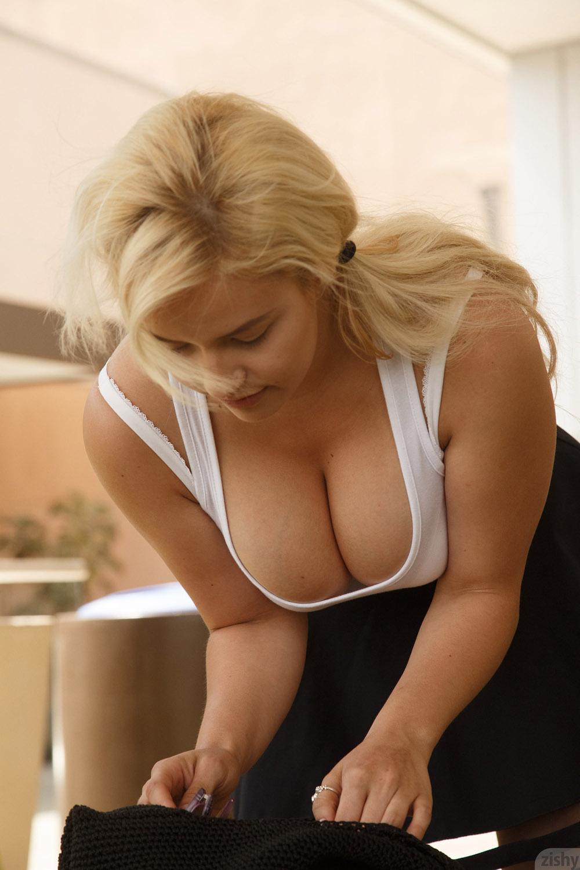 bent over boobs