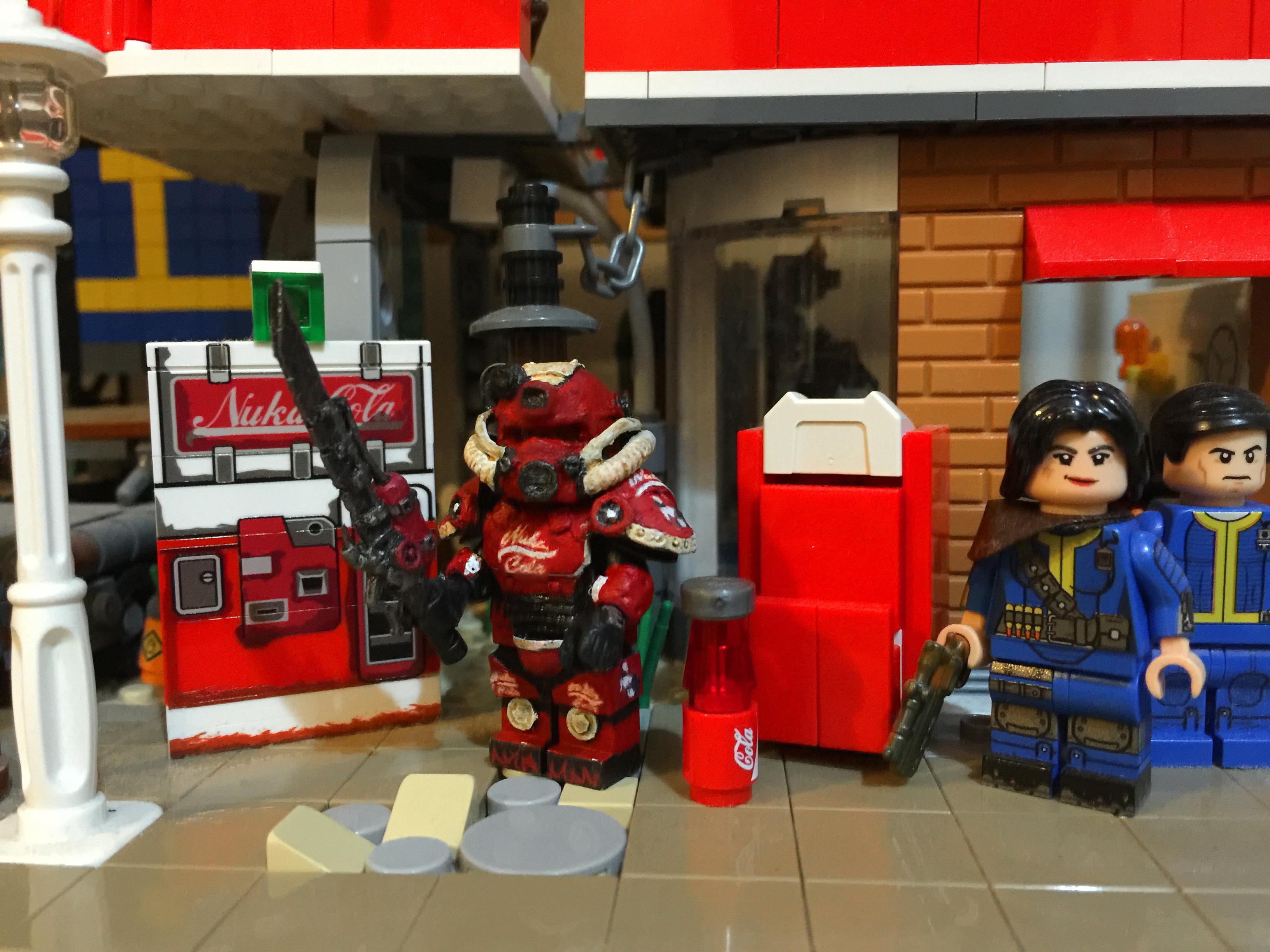 Wallpaper Lego Fallout 4 Nuka Power Armor Custom