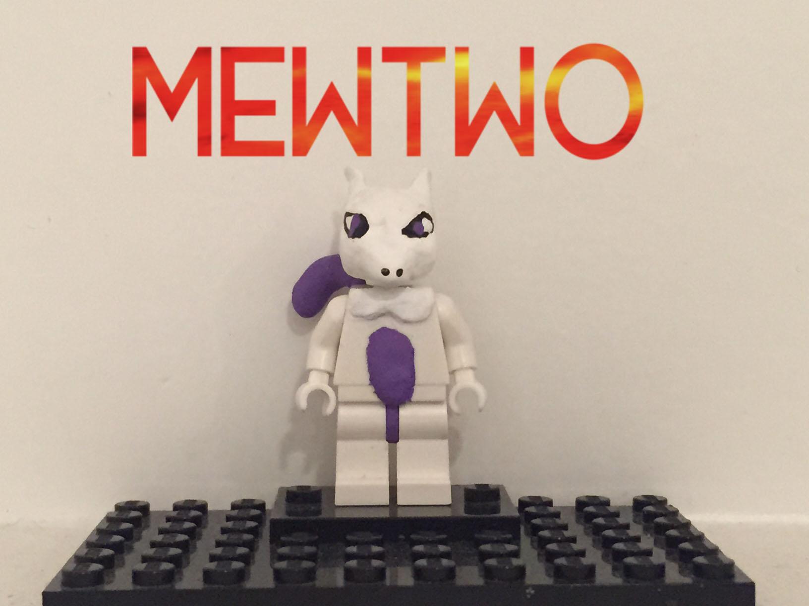 Wallpaper Lego Nintendo Pokemon Custom Minifigure Mewtwo
