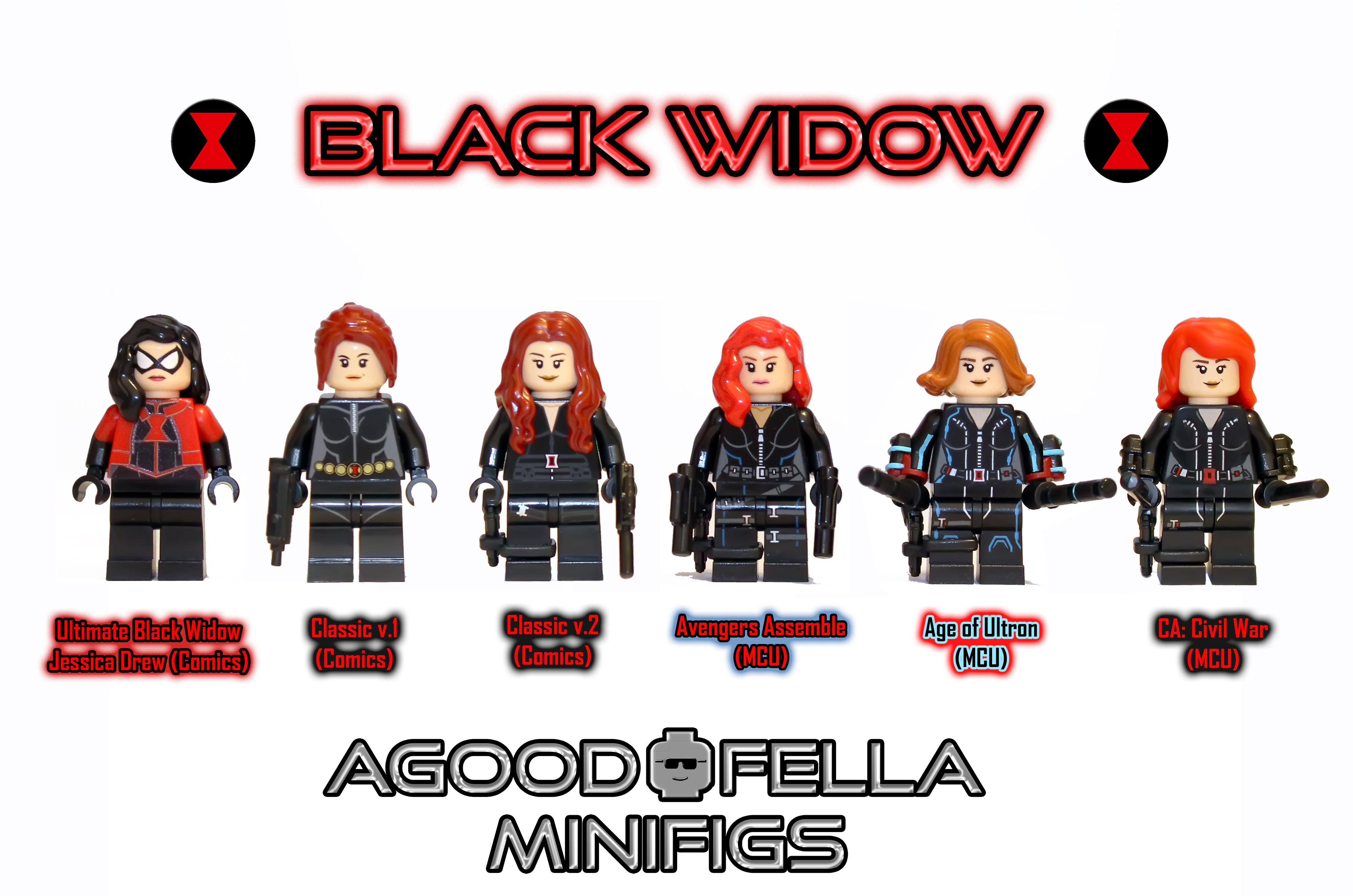 New Official LEGO Marvel Super Heroes Black Widow Mini Figure Minifigure