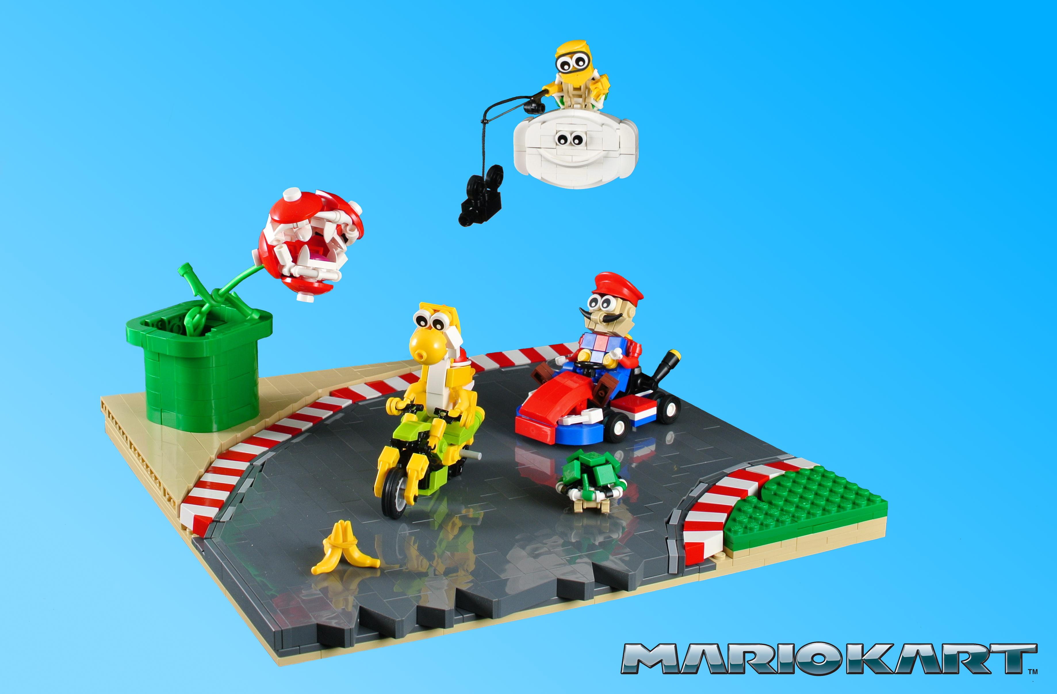 Fondos De Pantalla Lego Moc Yoshi Lakitu Piranhaplant Pirana