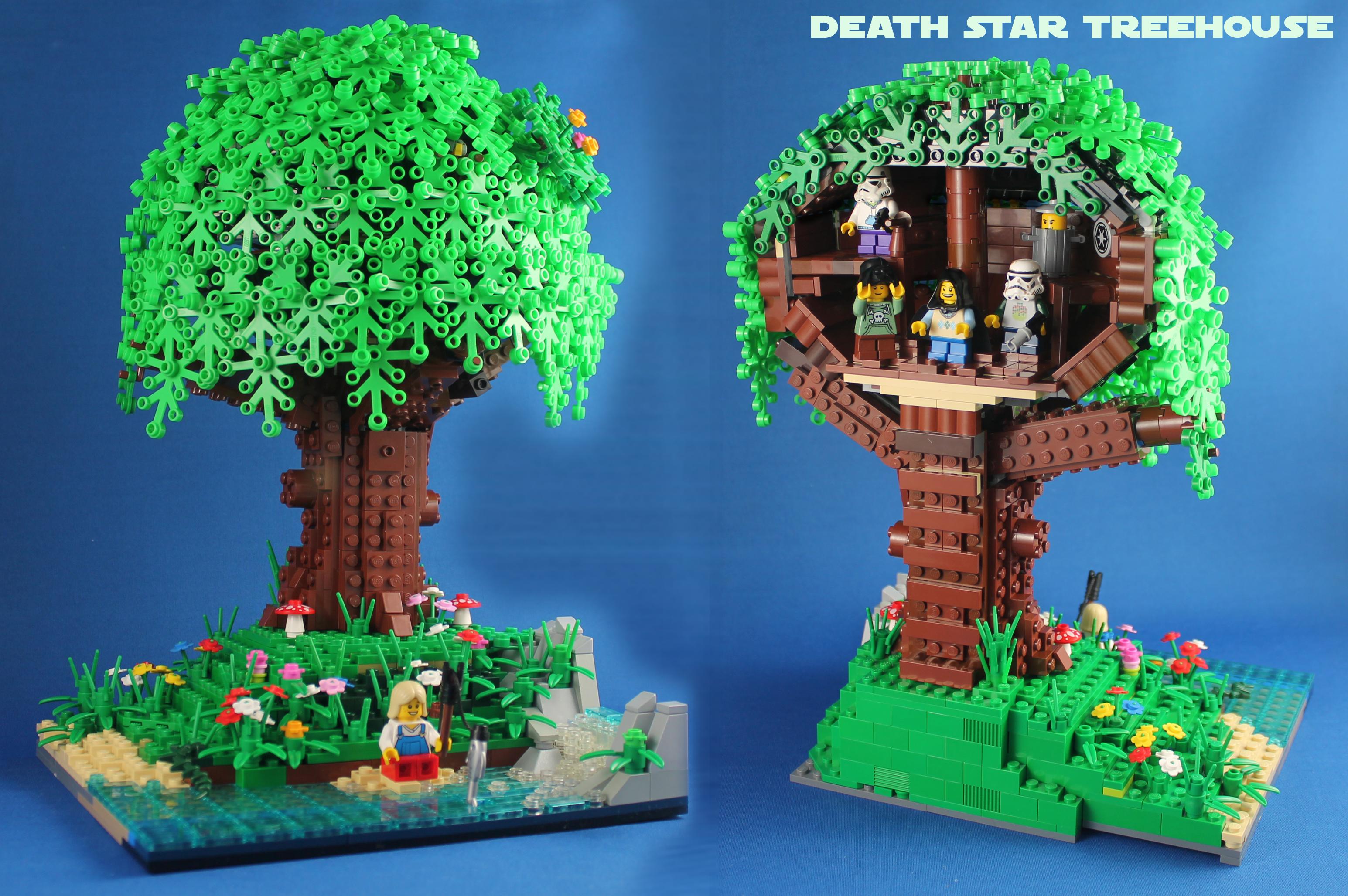 Rørig Baggrunde : LEGO, moc, stjerne, krige, død, træ, blad, vævning BP-67