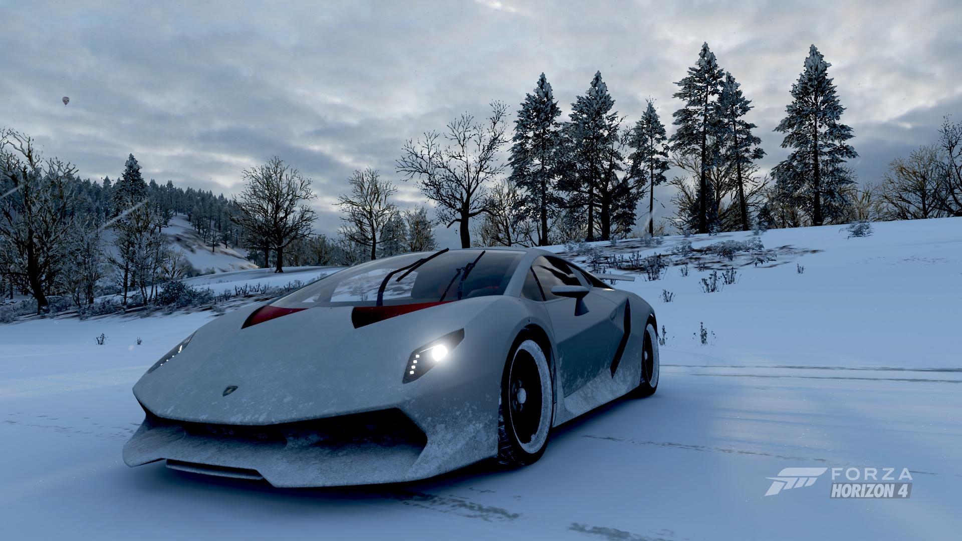 Wallpaper Lamborghini Sesto Elemento Forza Horizon 4 Winter