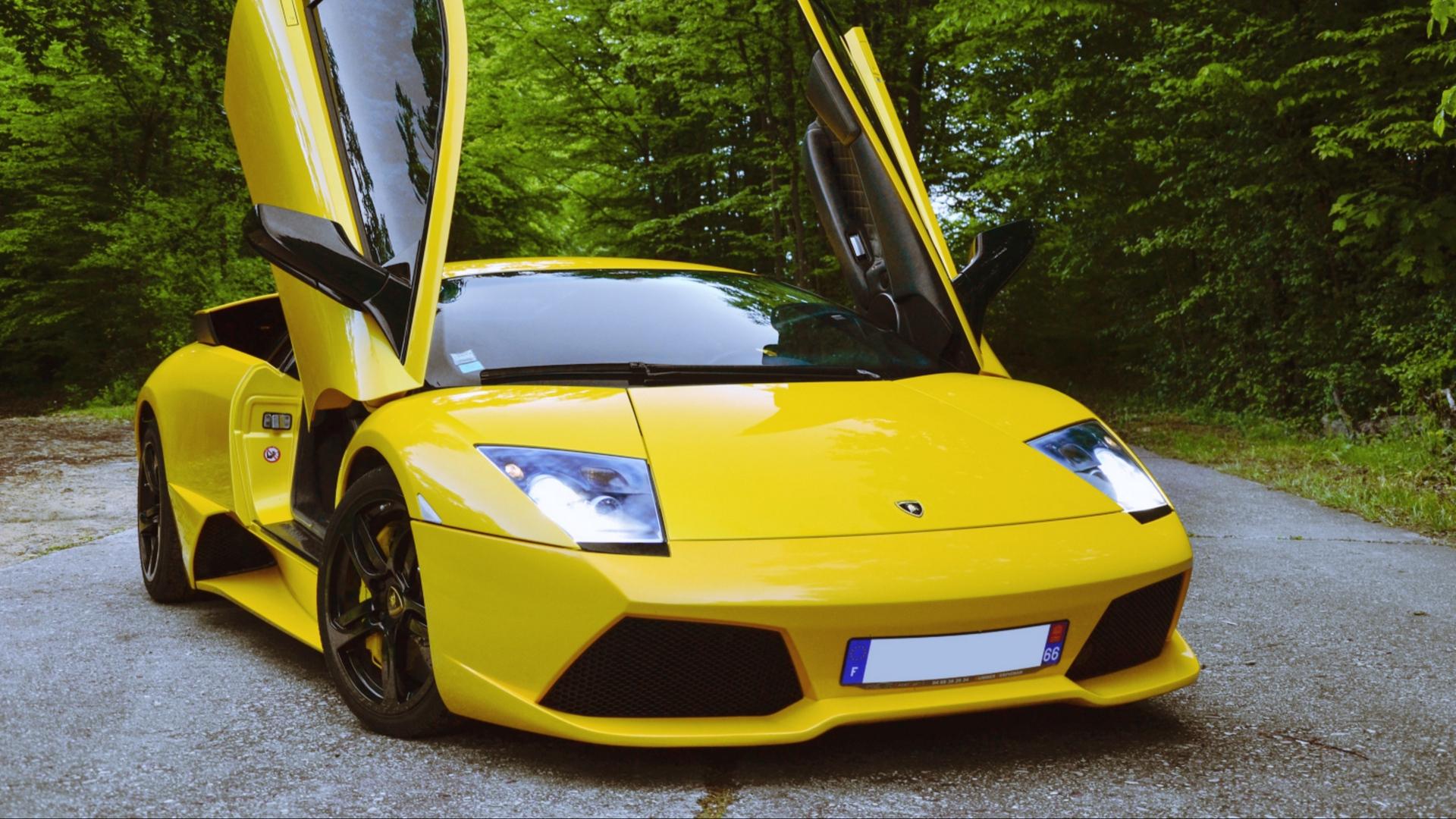 Wallpaper Yellow Cars Sports Car Lamborghini Murcielago